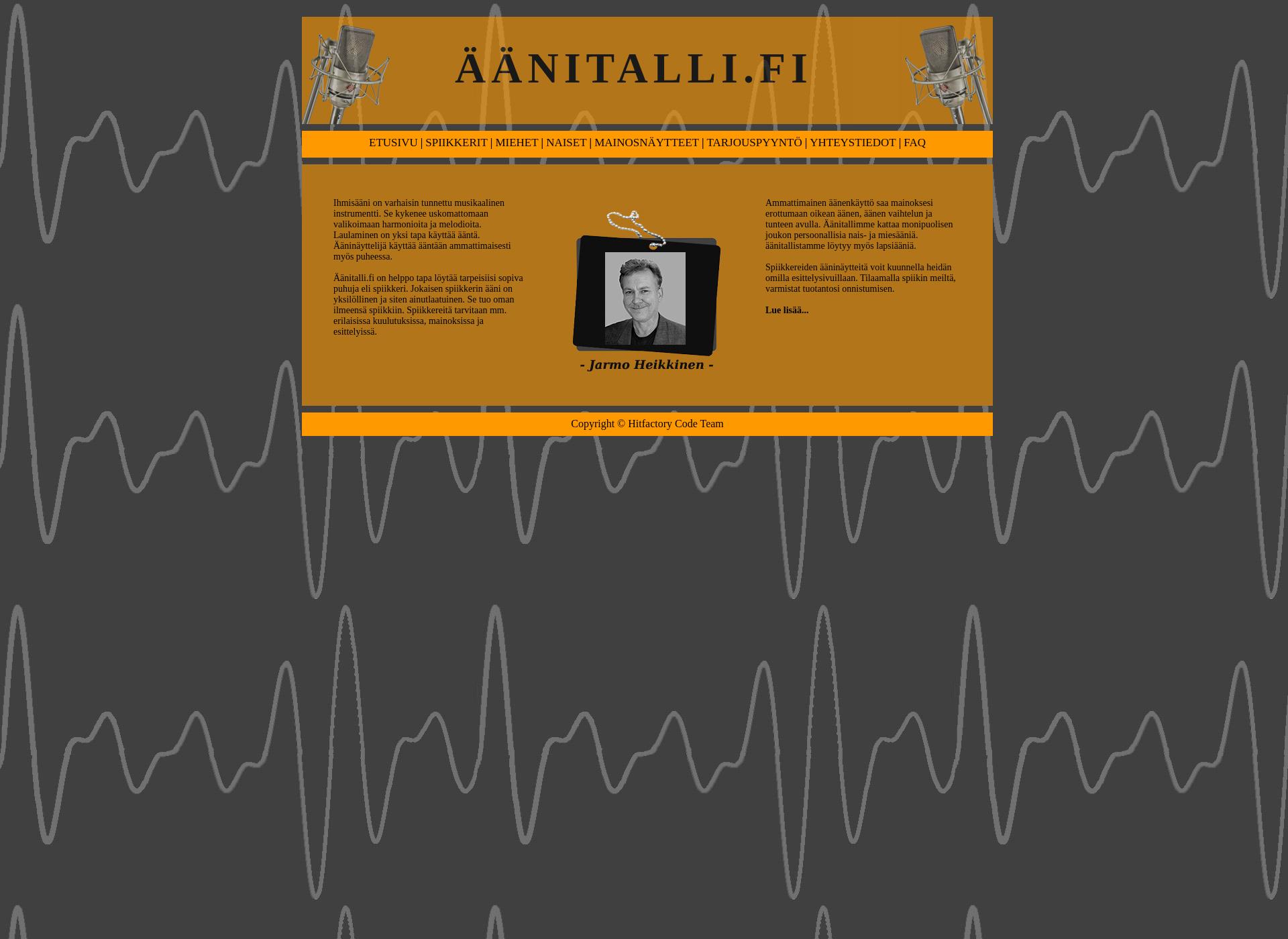 Screenshot for äänitalli.fi