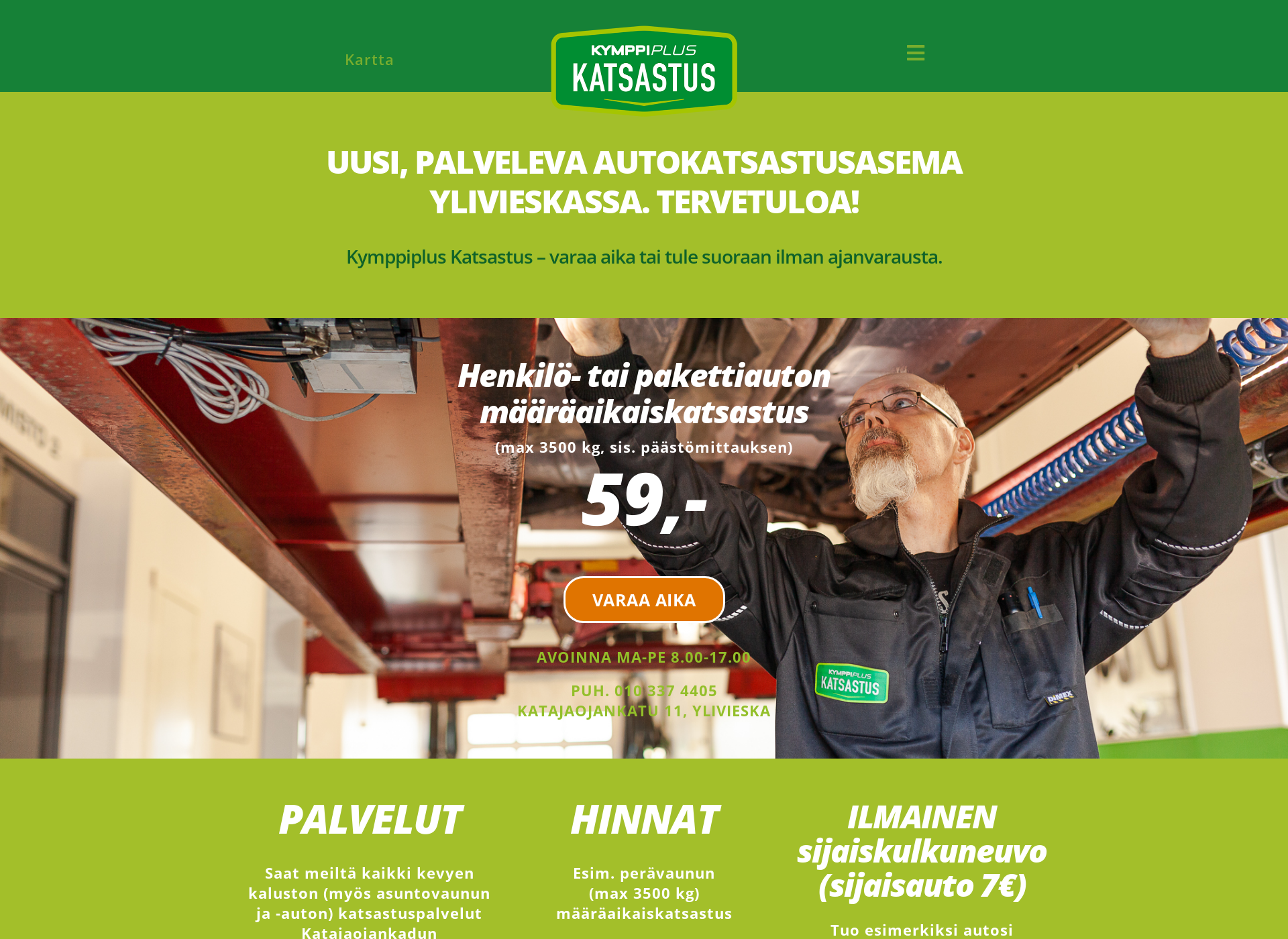 Screenshot for 10pluskatsastus.fi