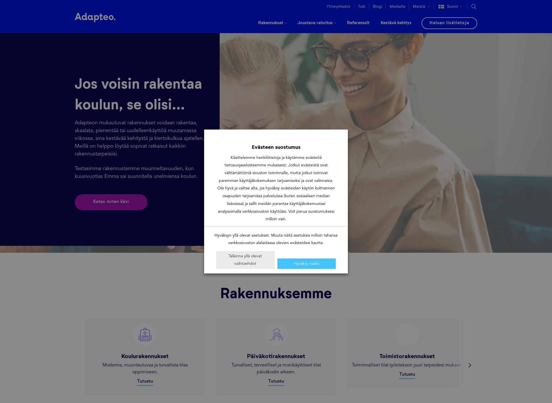 Screenshot for adapteo.fi