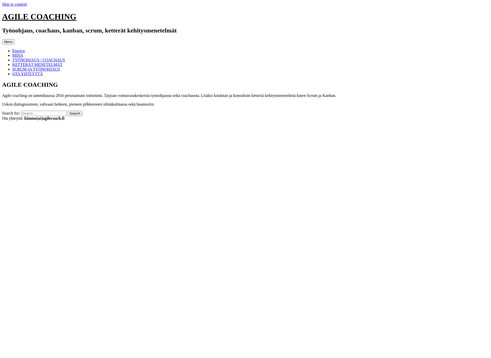 Screenshot for agilecoach.fi
