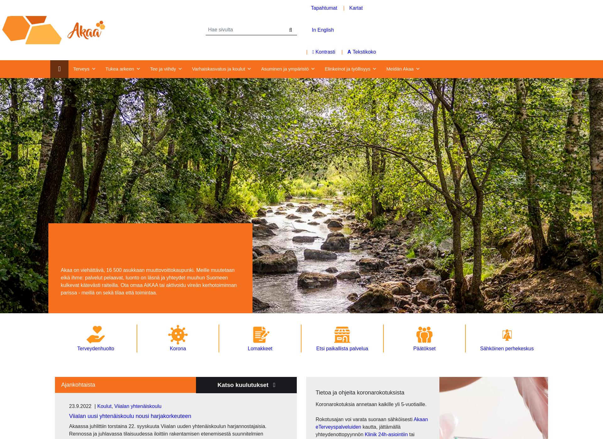 Screenshot for akaa.fi