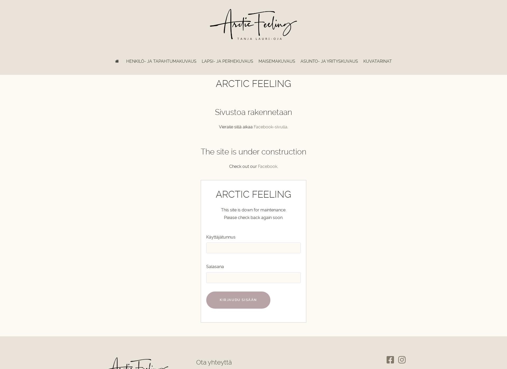 Screenshot for arcticfeeling.fi
