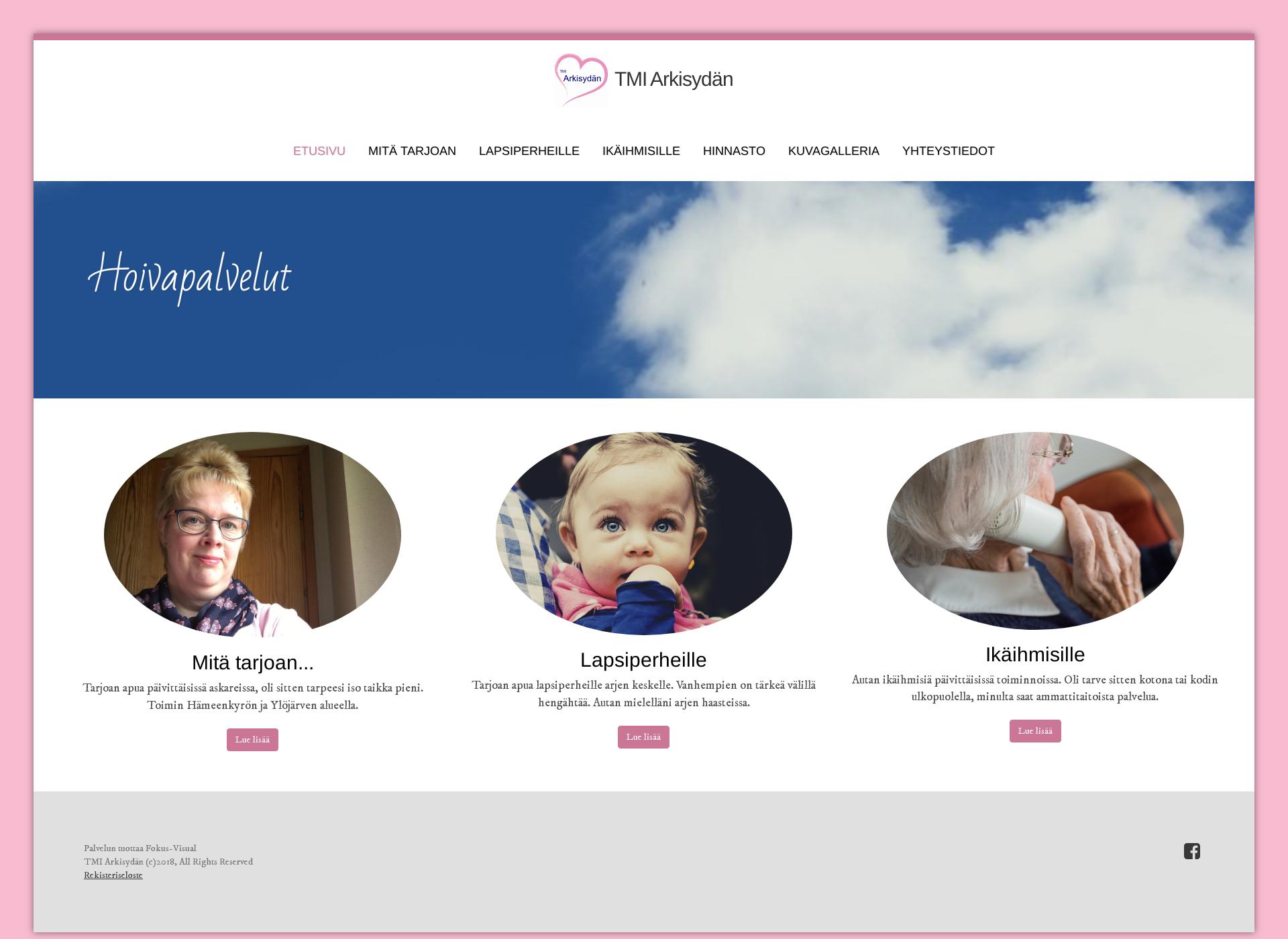Screenshot for arkisydan.fi