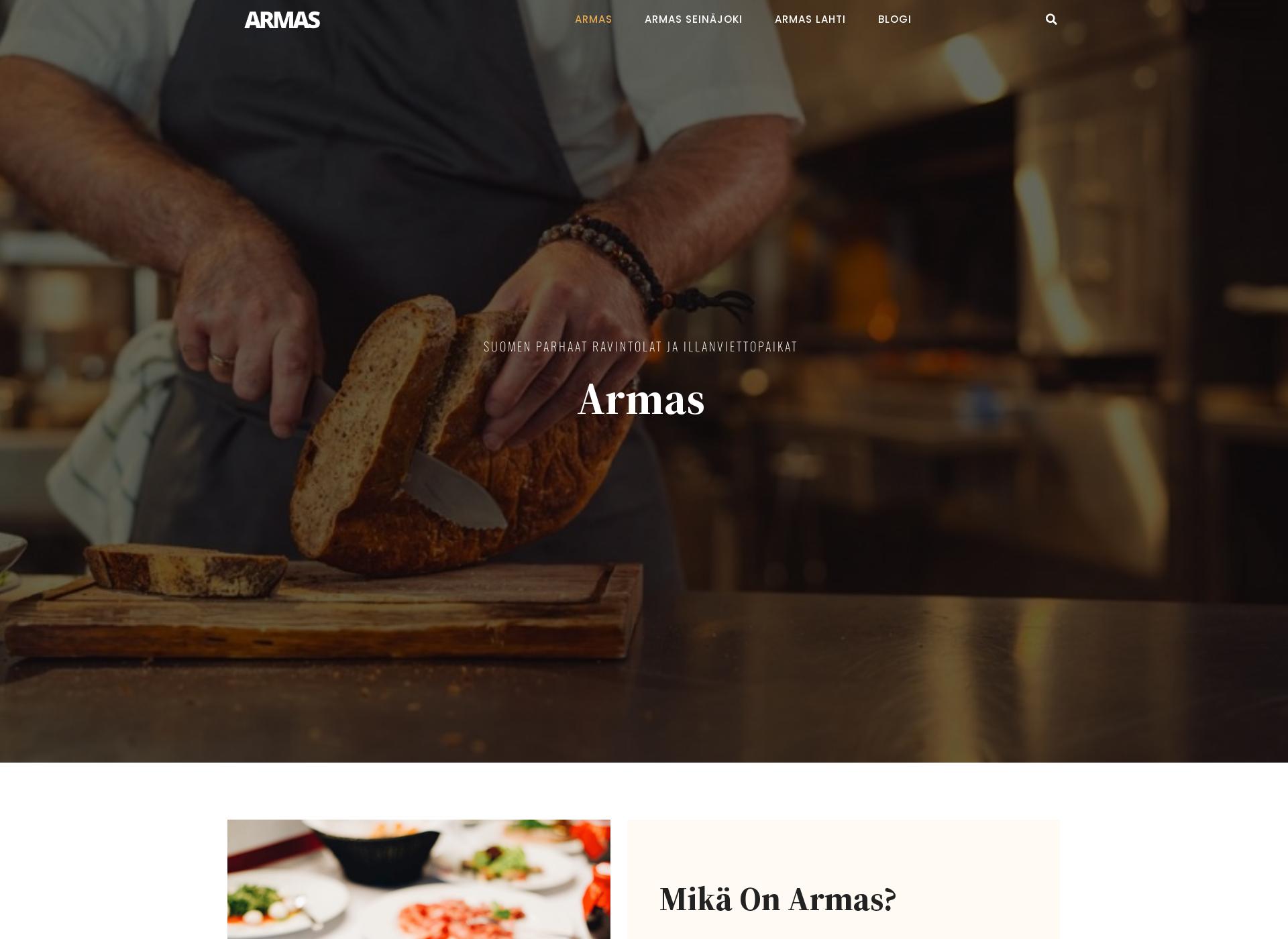 Screenshot for armas.fi
