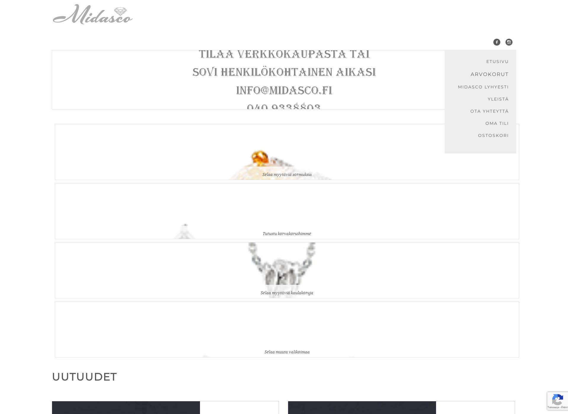 Screenshot for arvokorut.fi
