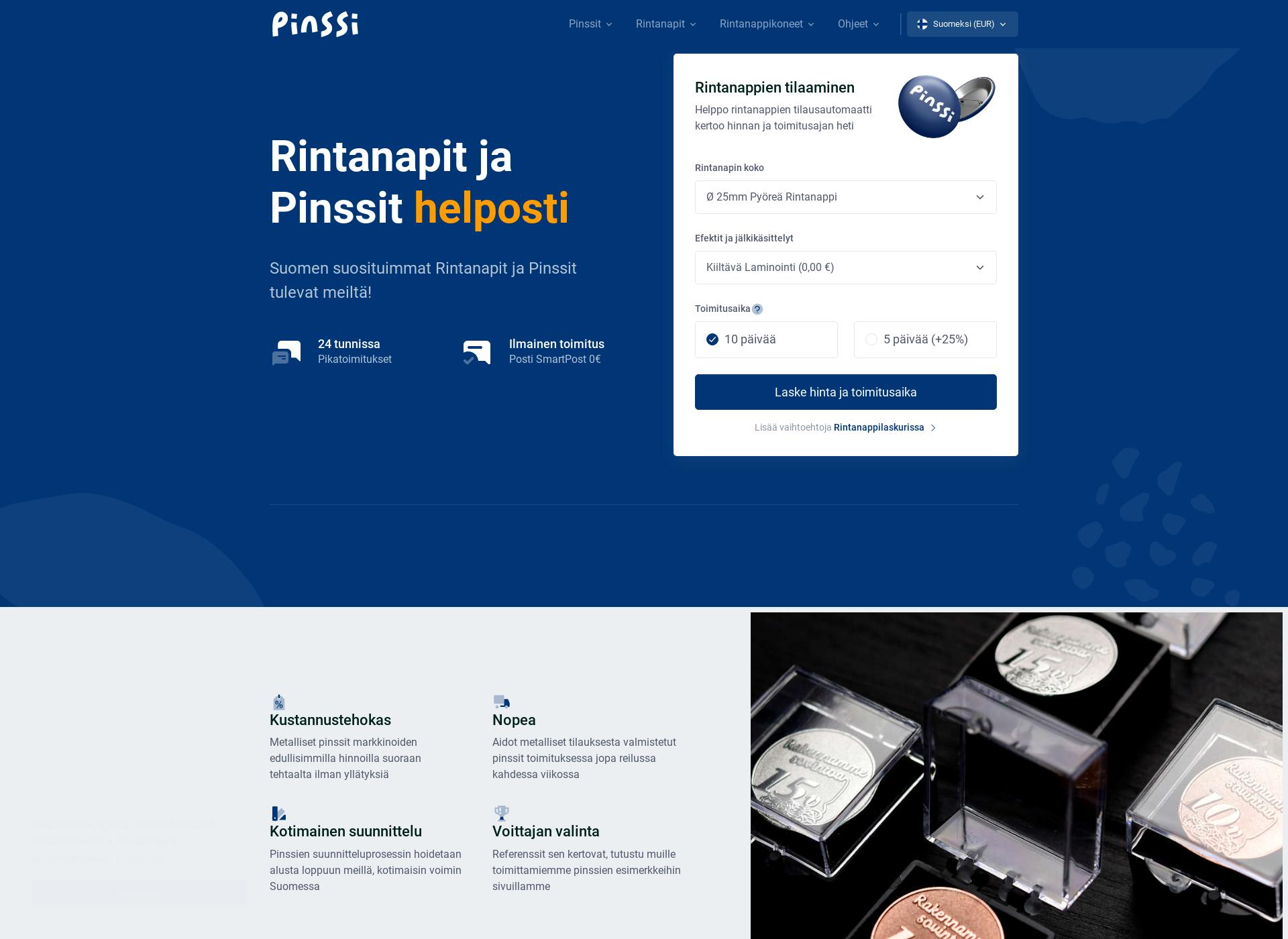 Screenshot for badgeland.fi