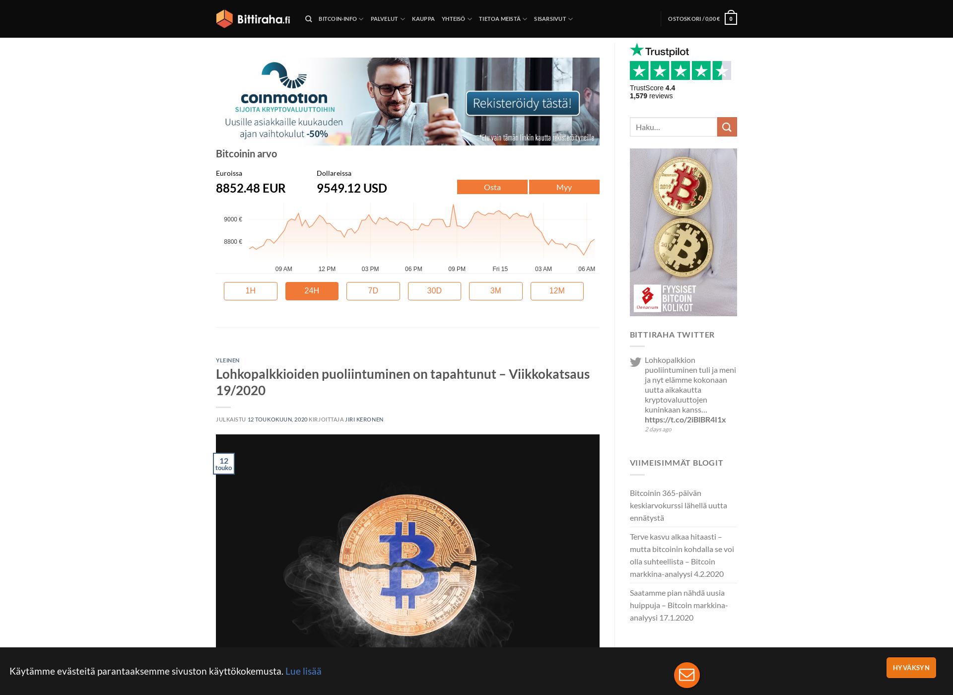 Screenshot for bitcoinviikko.fi