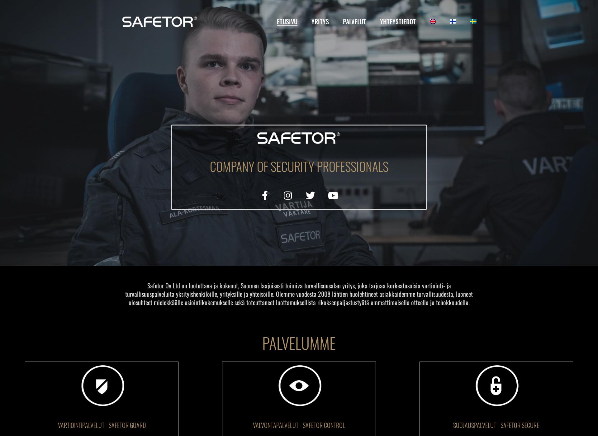 Screenshot for blackshieldtactical.fi