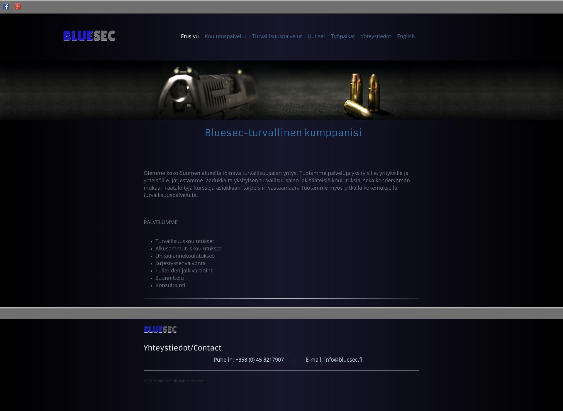 Screenshot for bluesec.fi