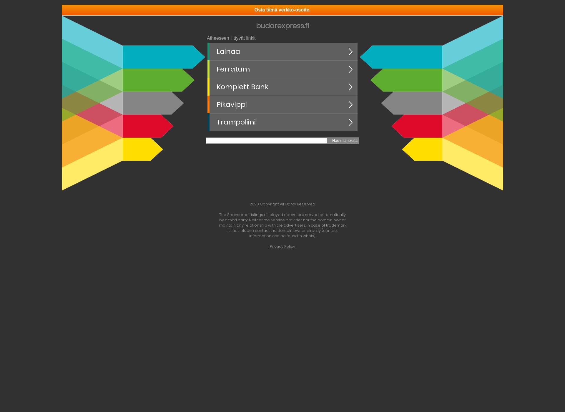 Screenshot for budarexpress.fi