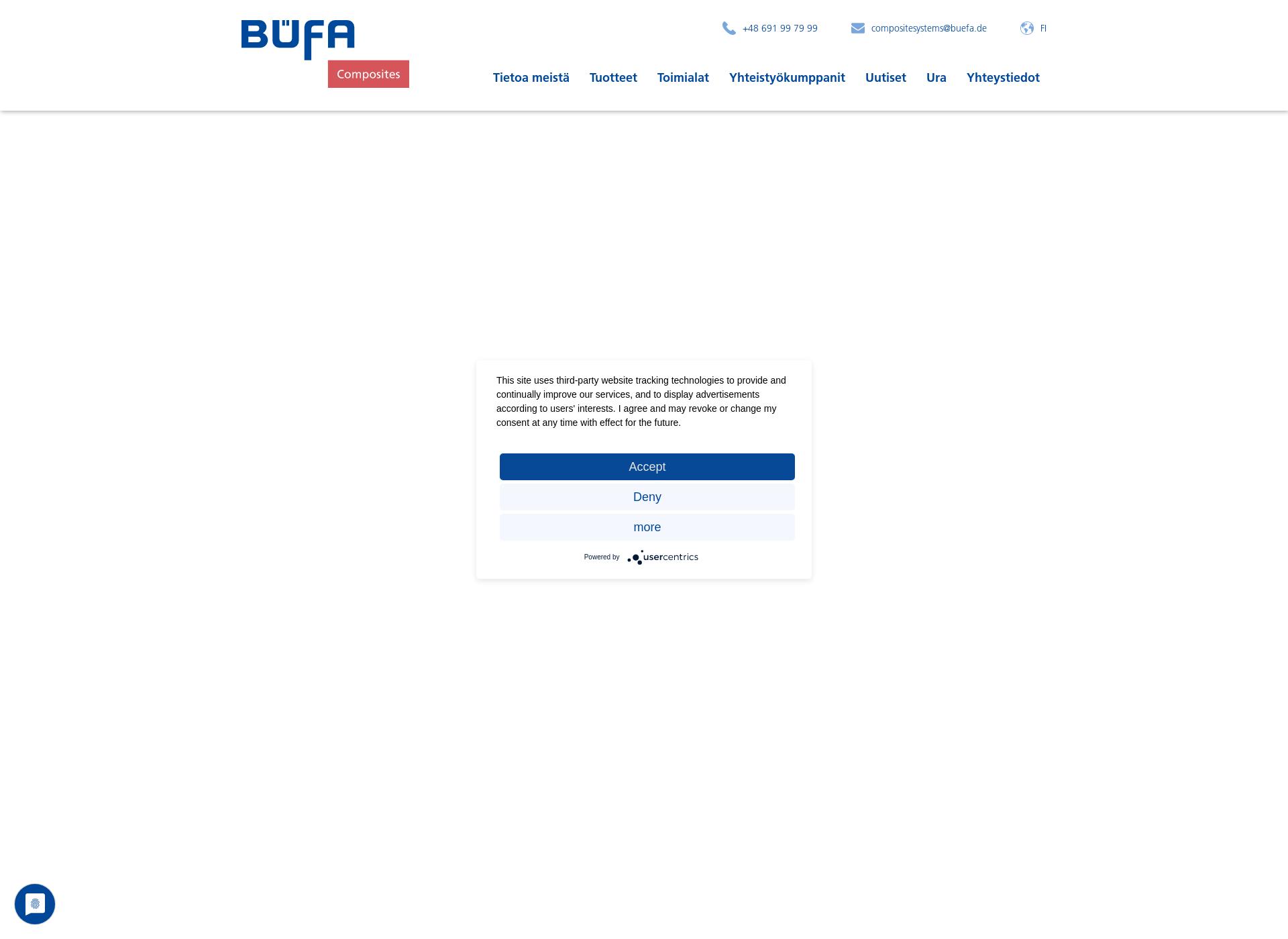 Screenshot for buefa-composites.fi