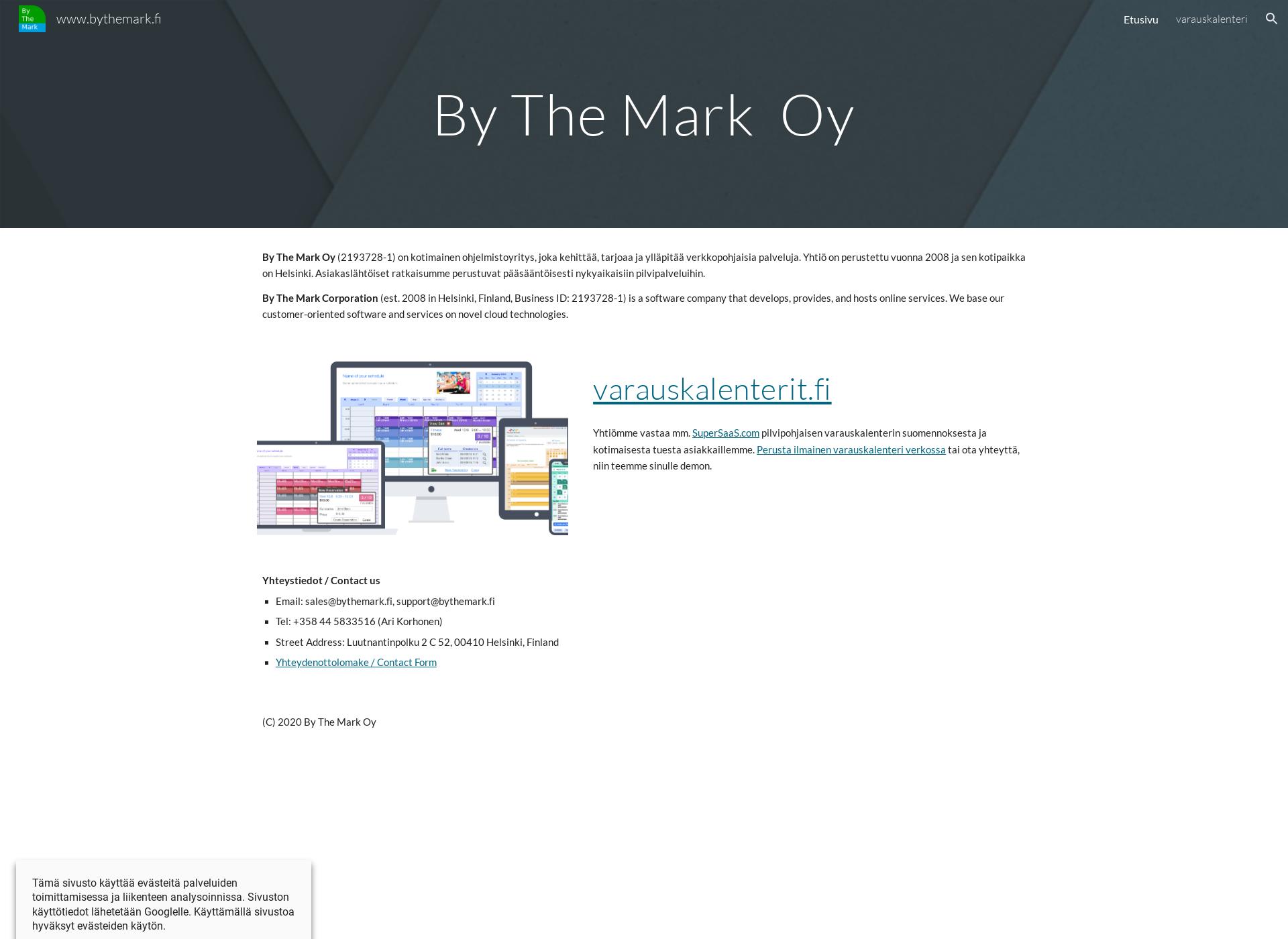 Screenshot for bythemark.fi