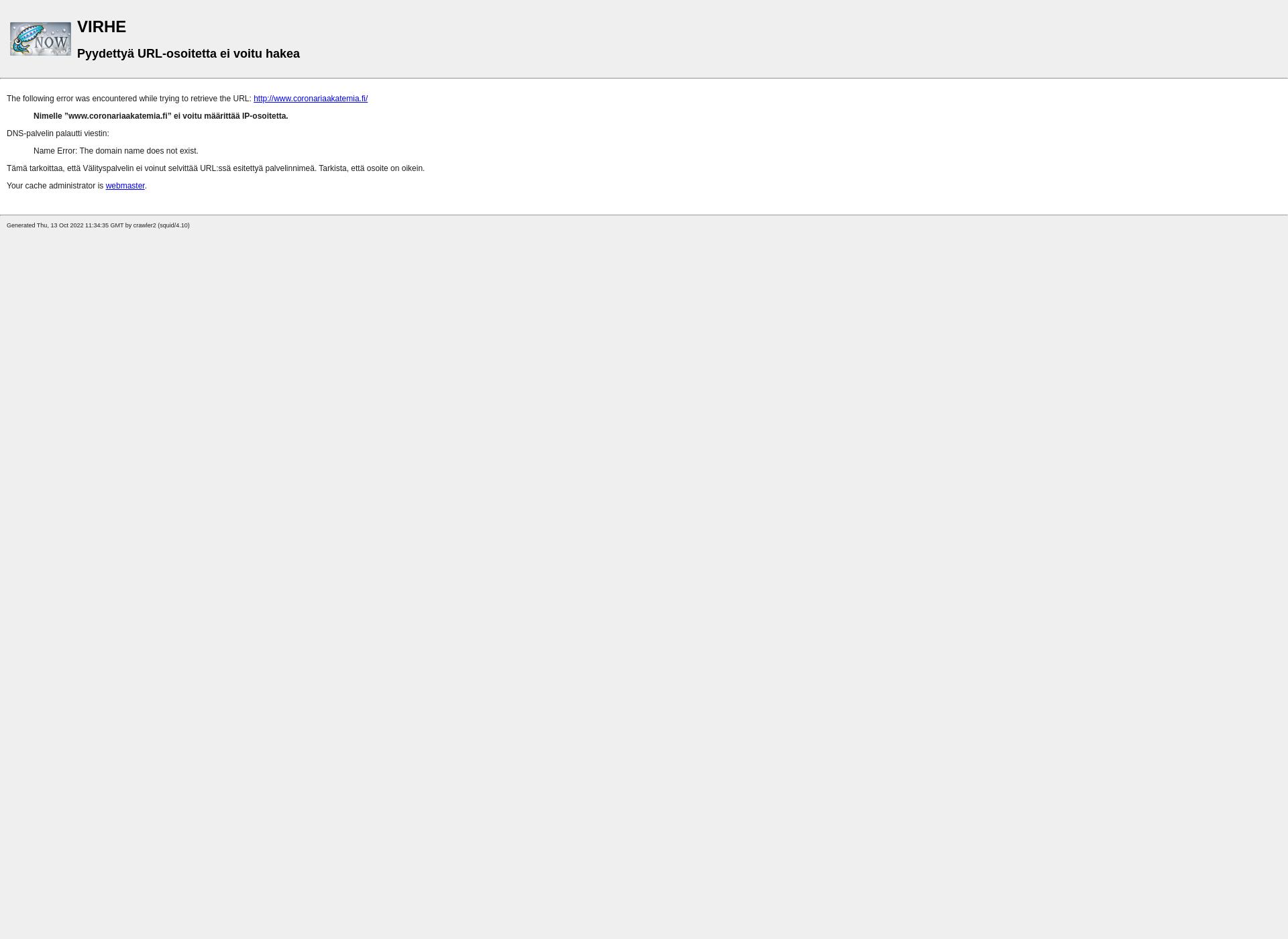 Screenshot for coronariaakatemia.fi