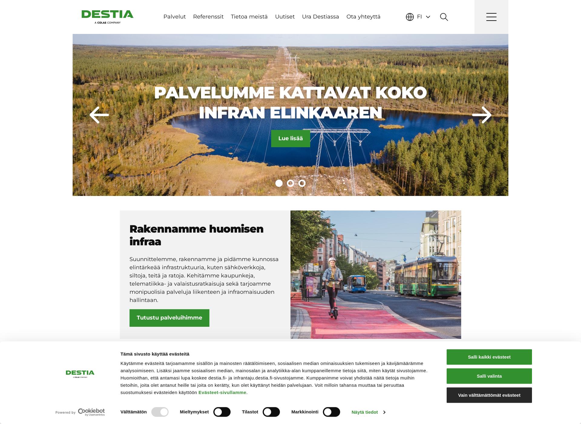 Screenshot for destia.fi