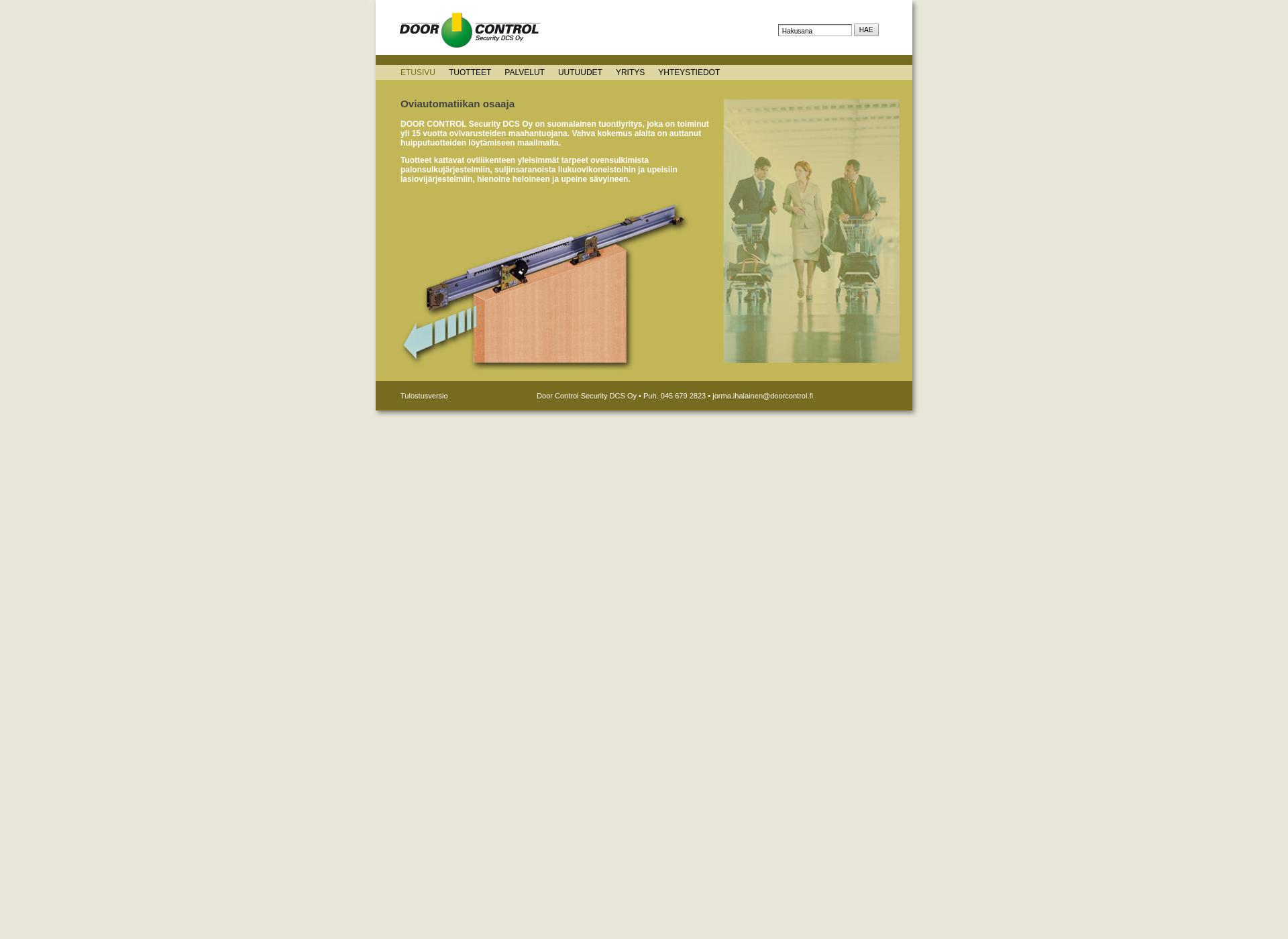Screenshot for doorcontrol.fi