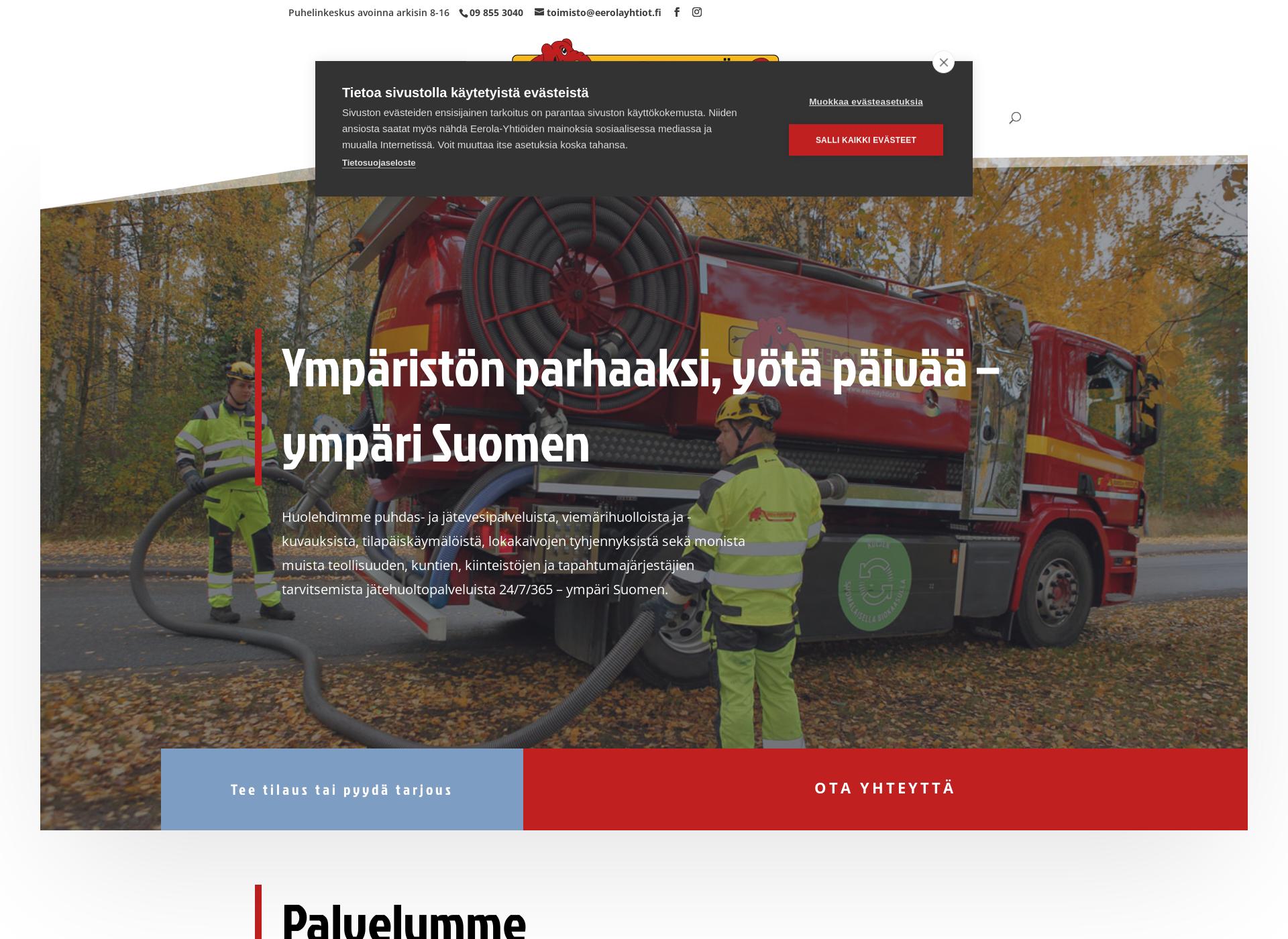 Screenshot for eerolayhtiot.fi