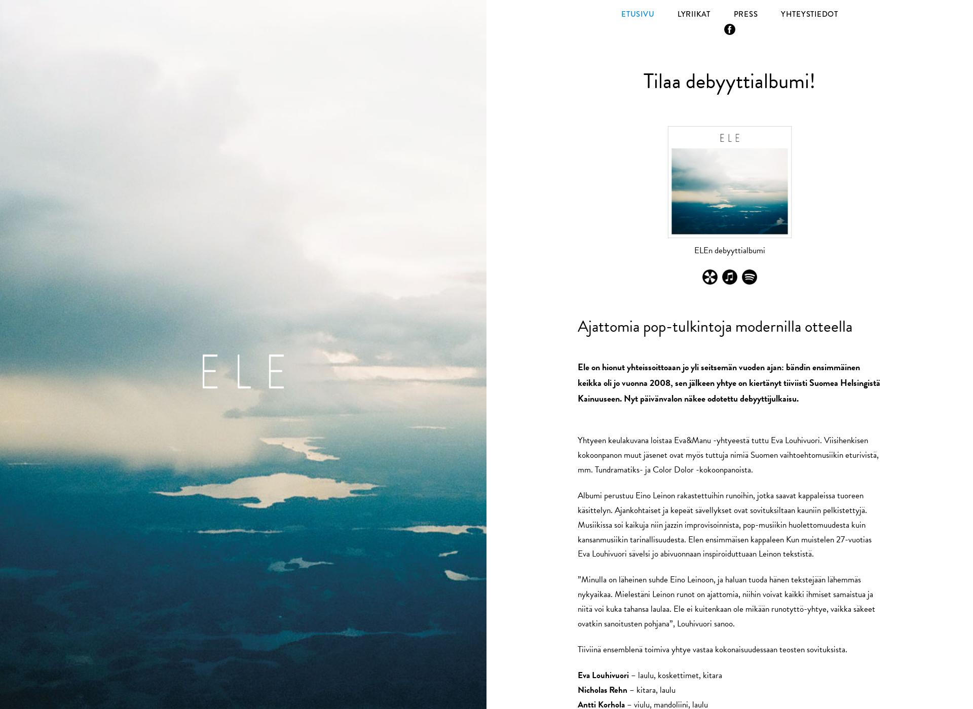 Screenshot for elemusiikki.fi