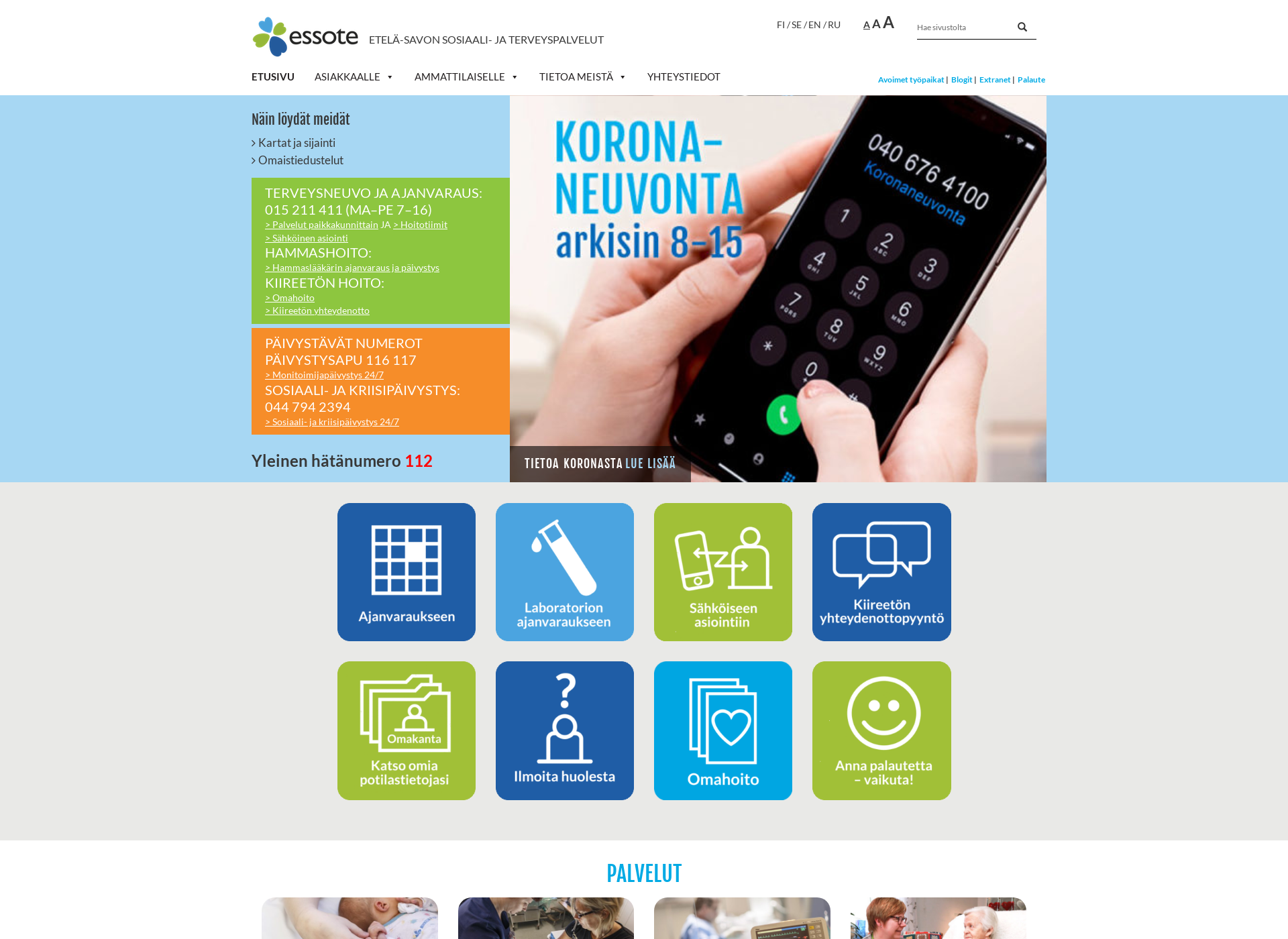 Screenshot for essote.fi