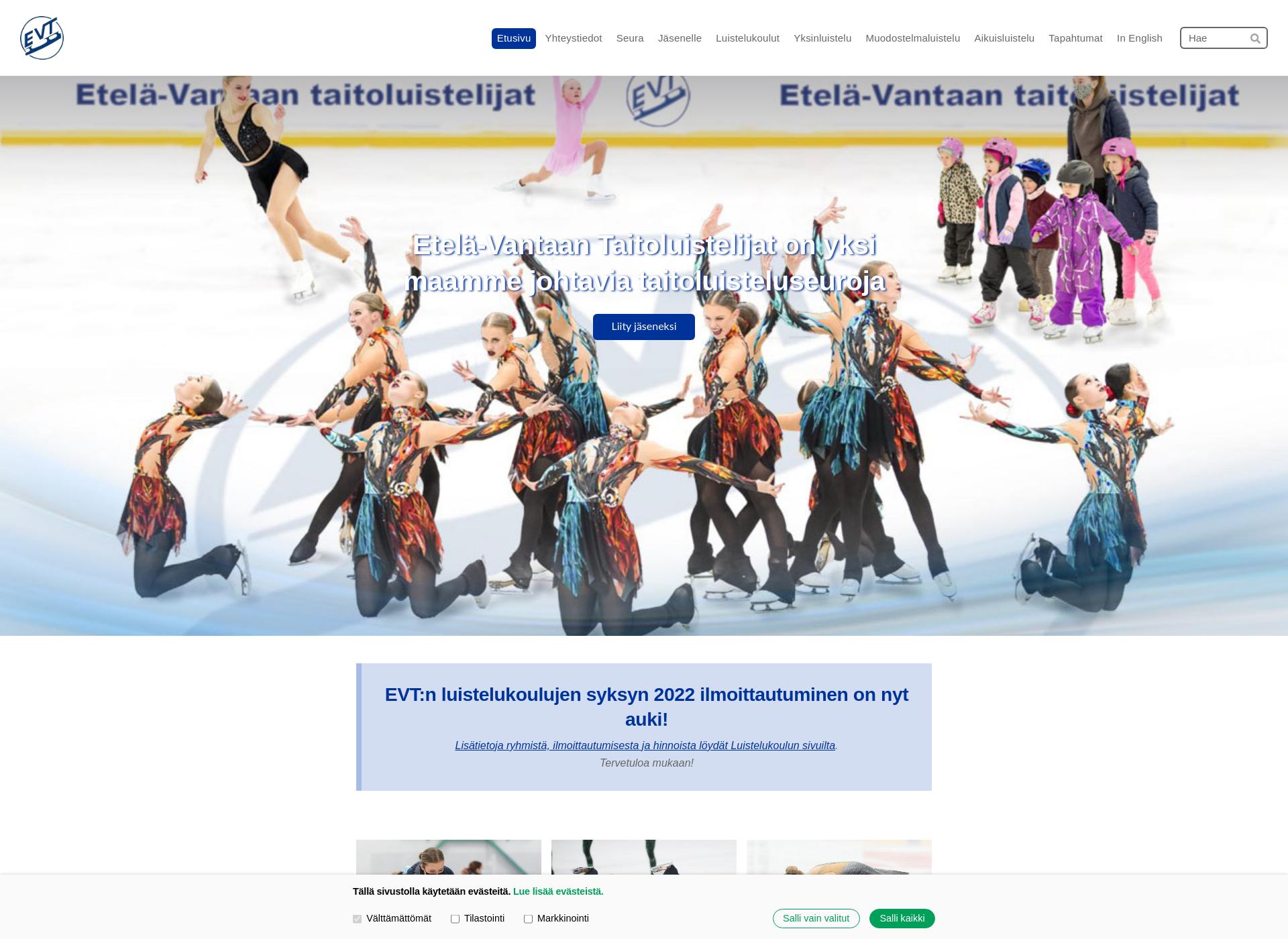 Screenshot for evtluistelijat.fi