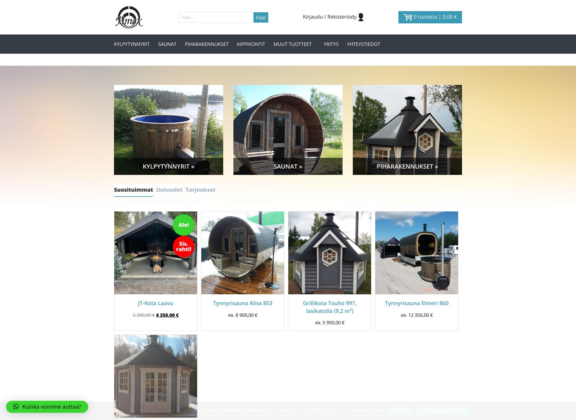 Screenshot for fimex.fi