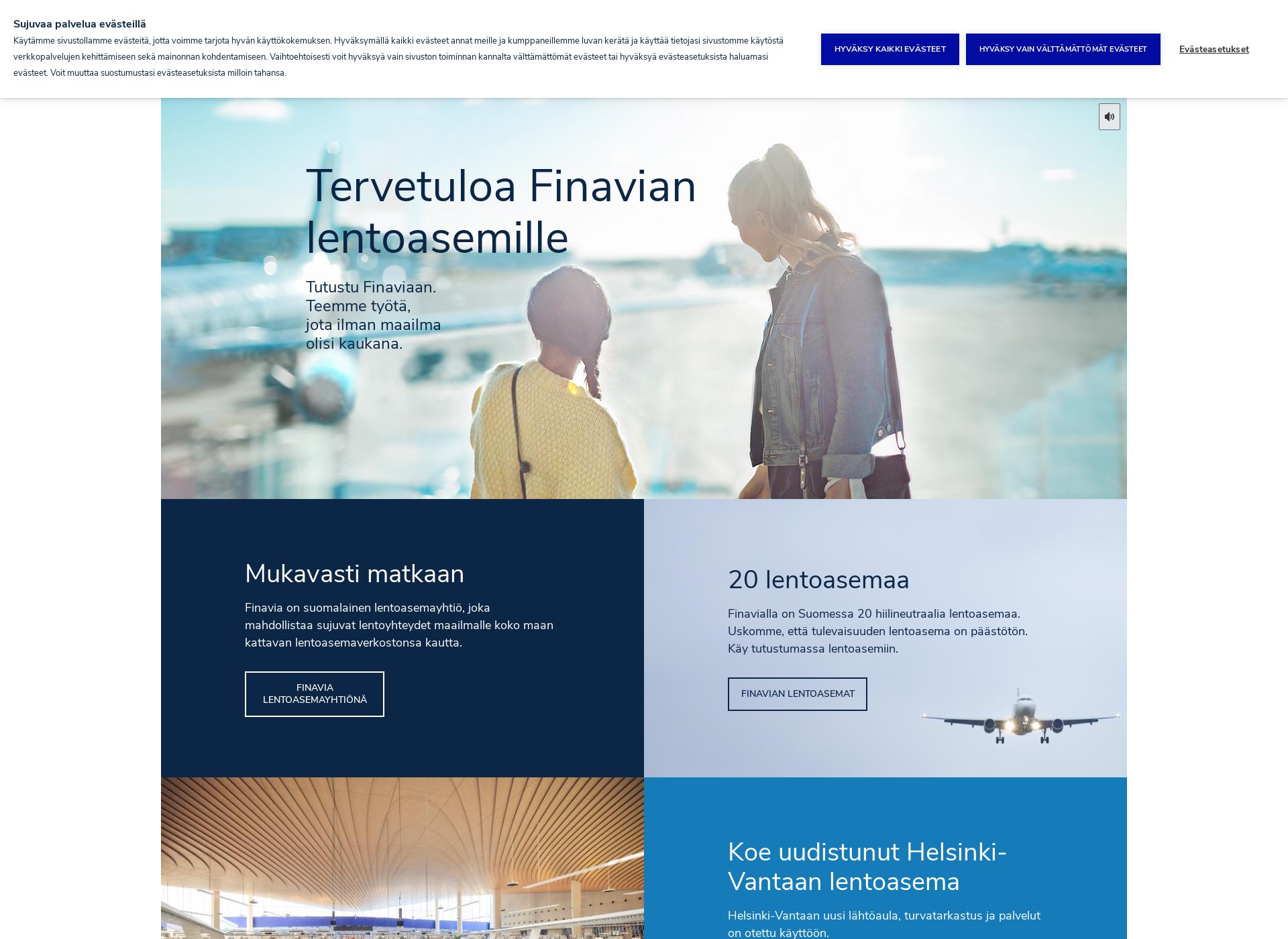 Screenshot for finavia.fi