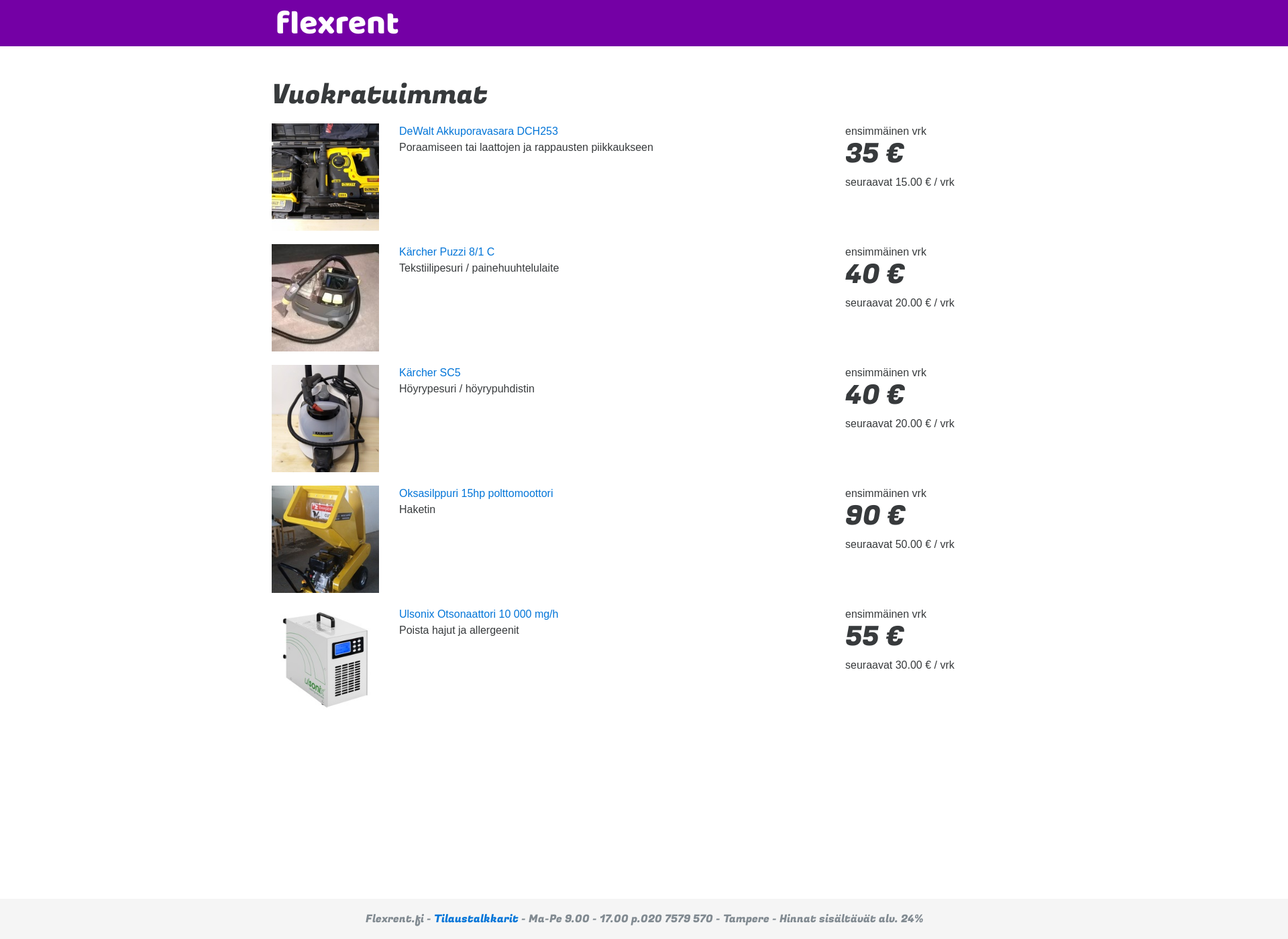 Screenshot for flexrent.fi