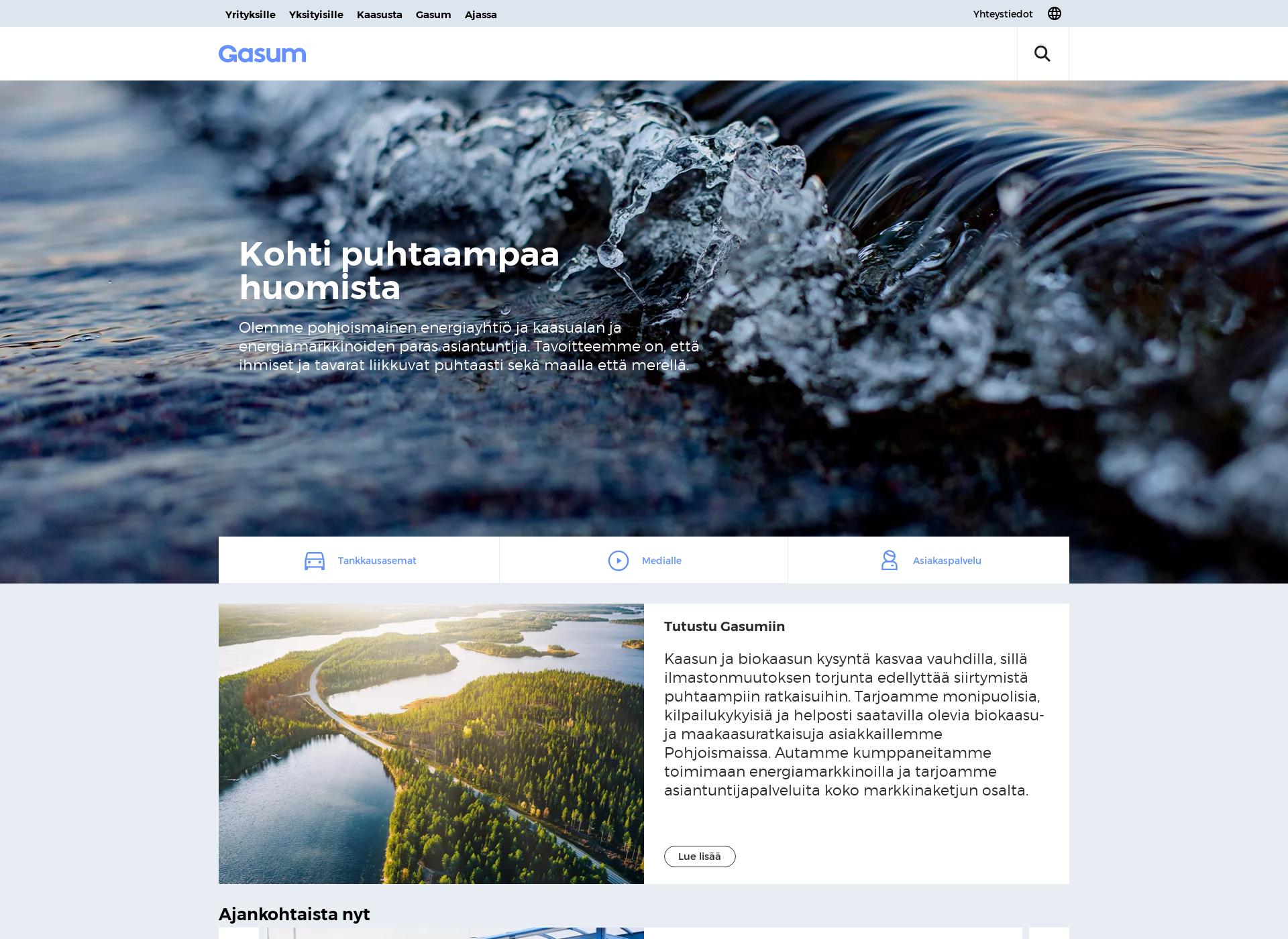 Screenshot for gasum.com