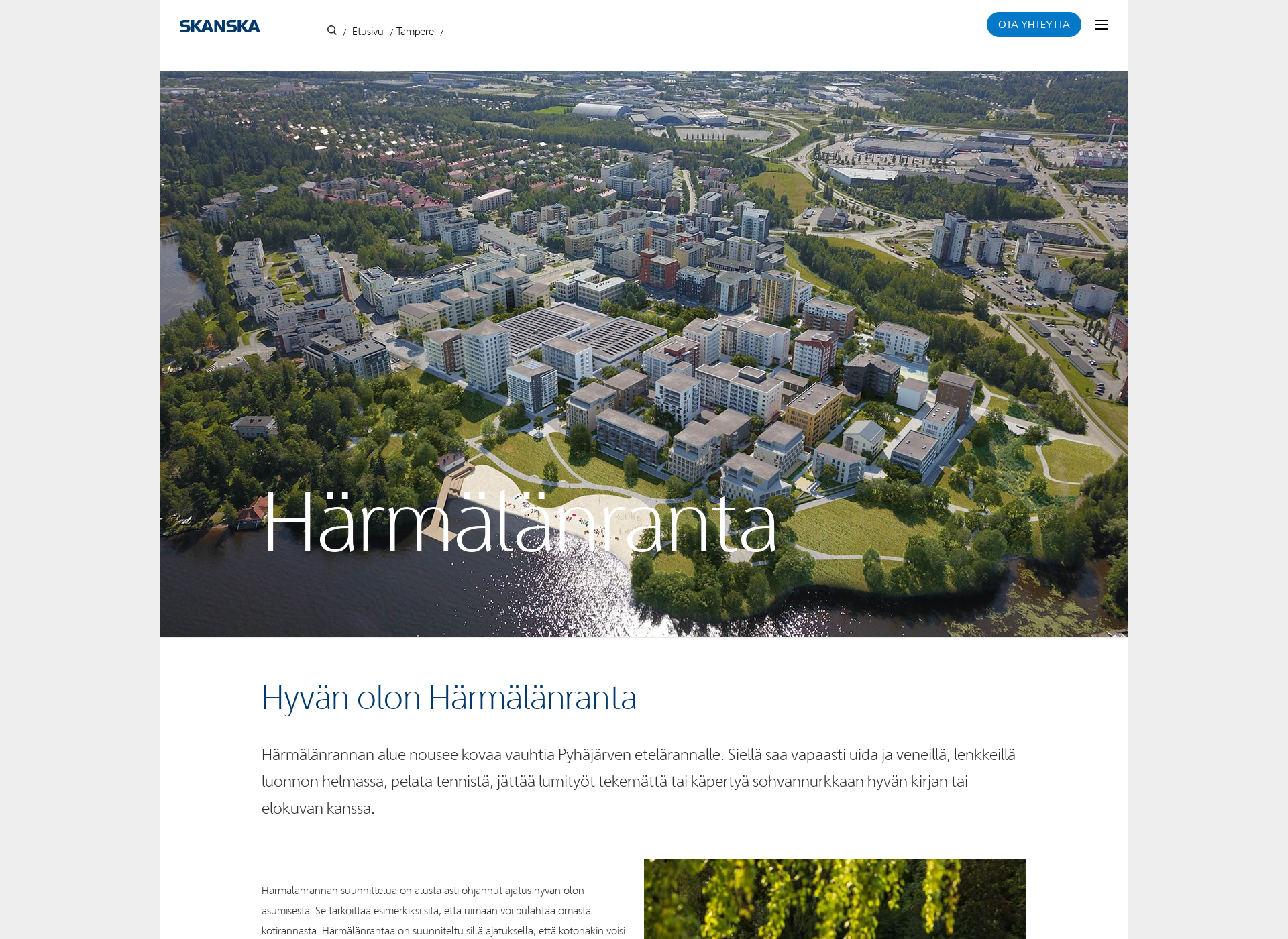Screenshot for härmälänranta.fi