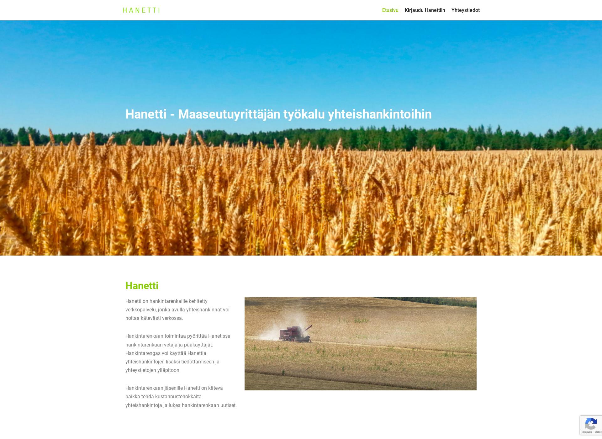 Screenshot for hanetti.fi