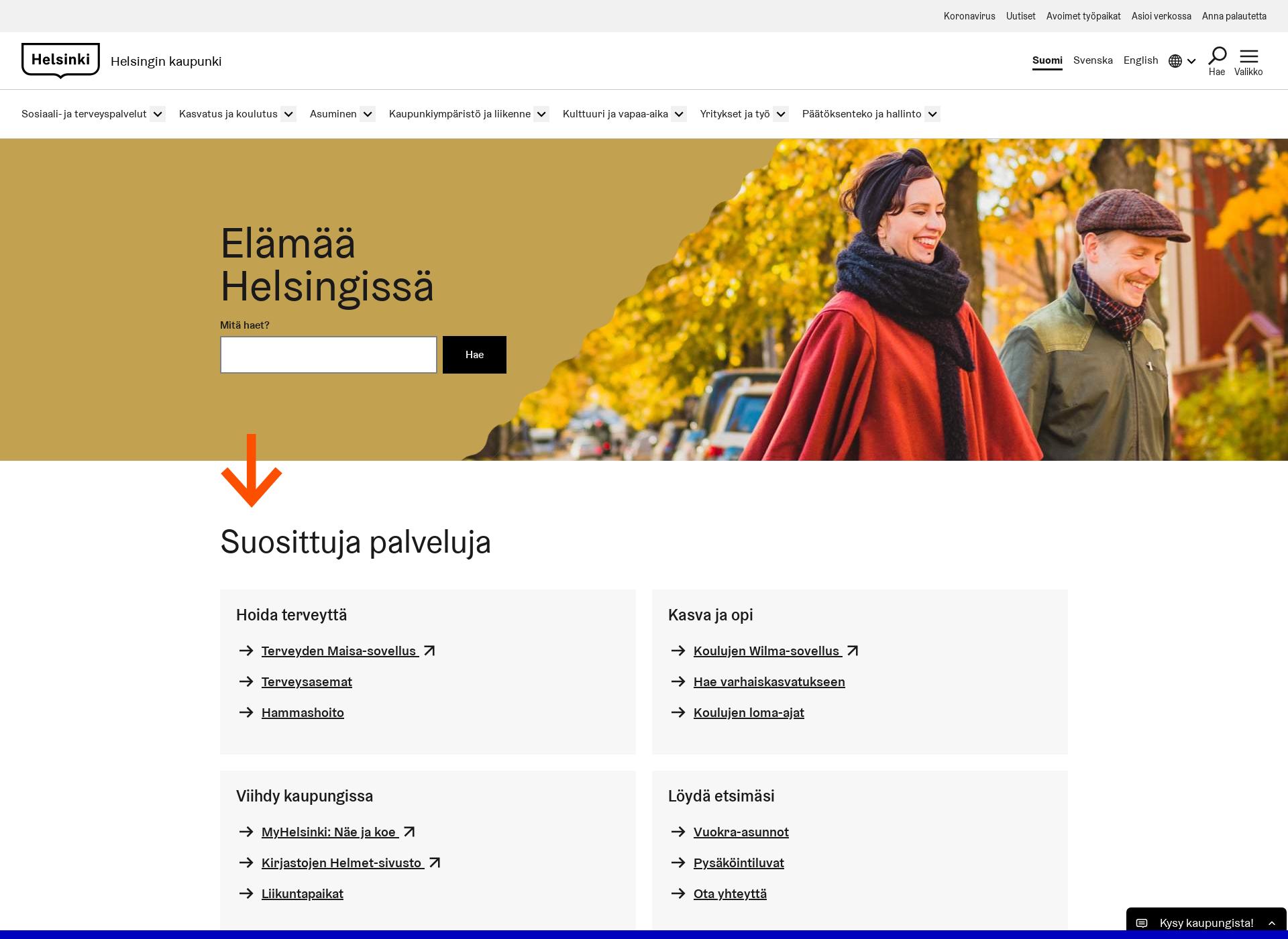 Screenshot for hel.fi
