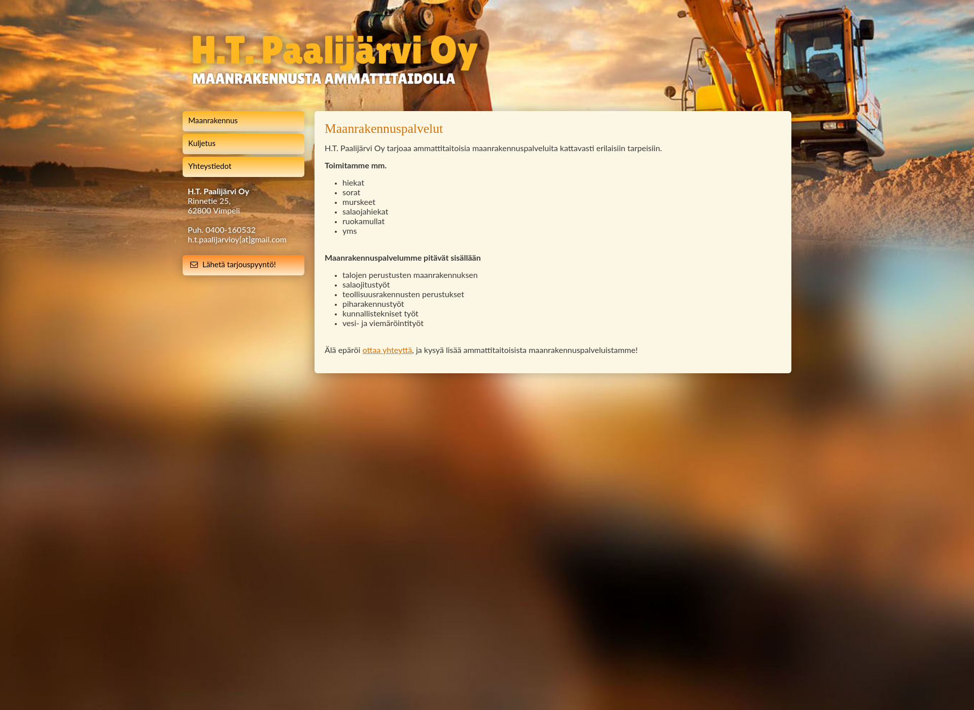 Screenshot for htpaalijarvi.fi