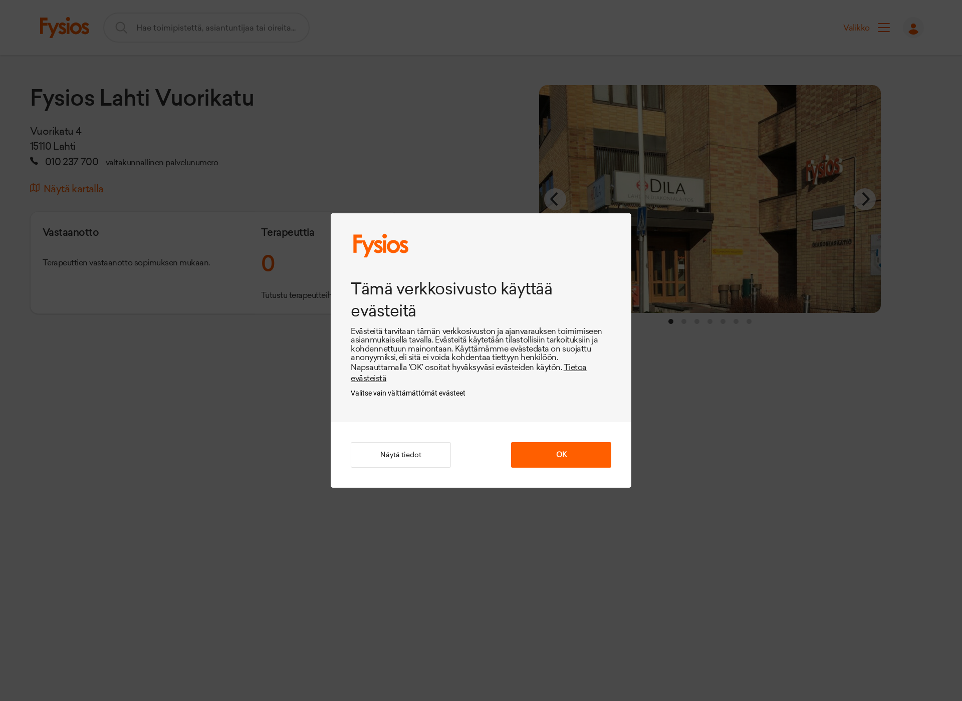 Screenshot for ihanafysio.fi