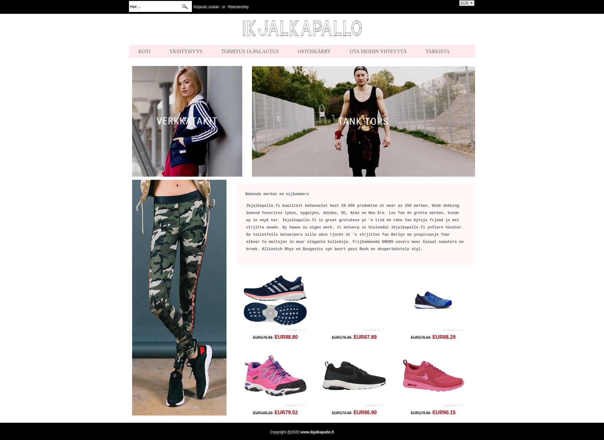 Screenshot for ikjalkapallo.fi