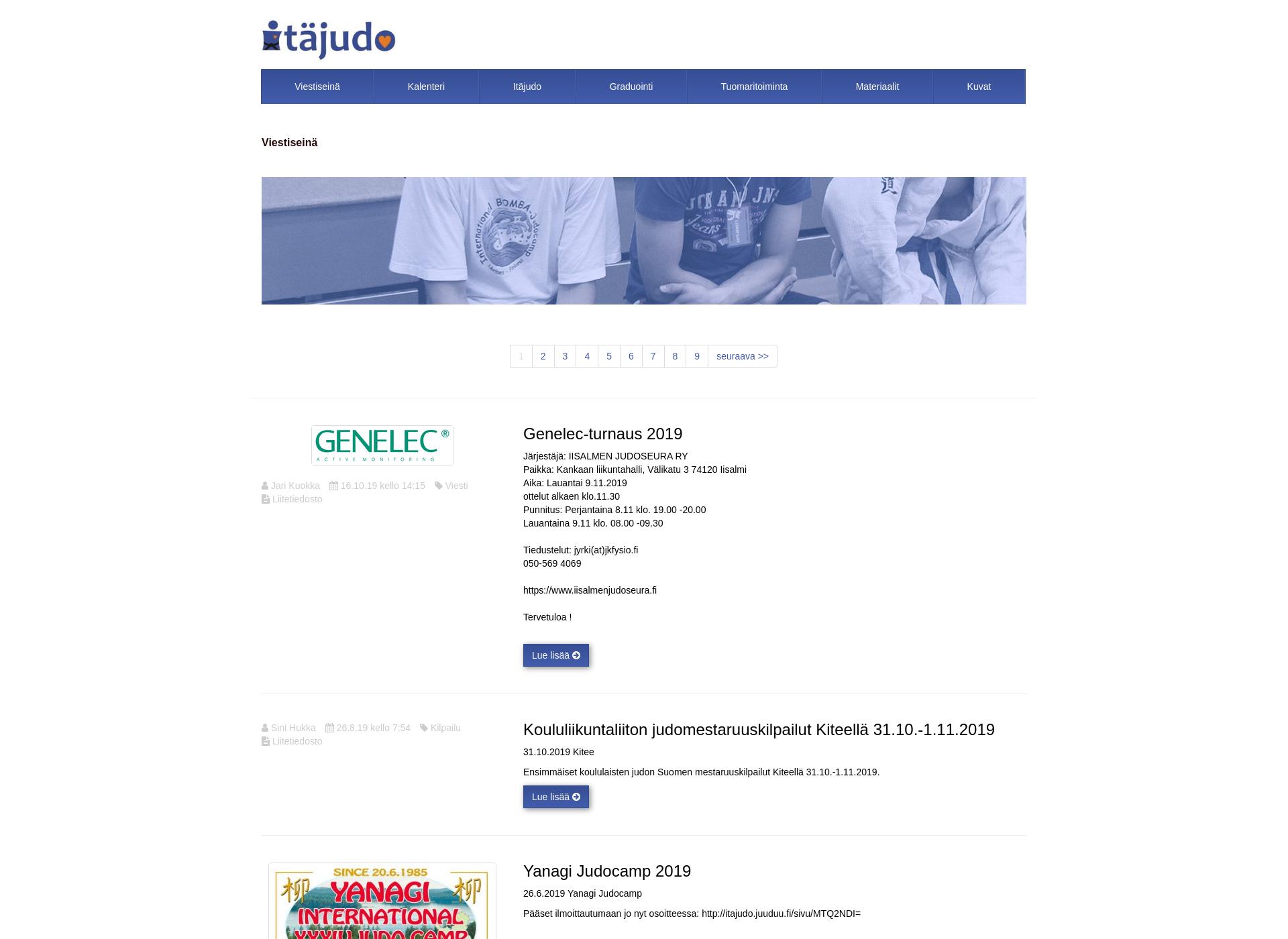 Screenshot for itajudo.fi