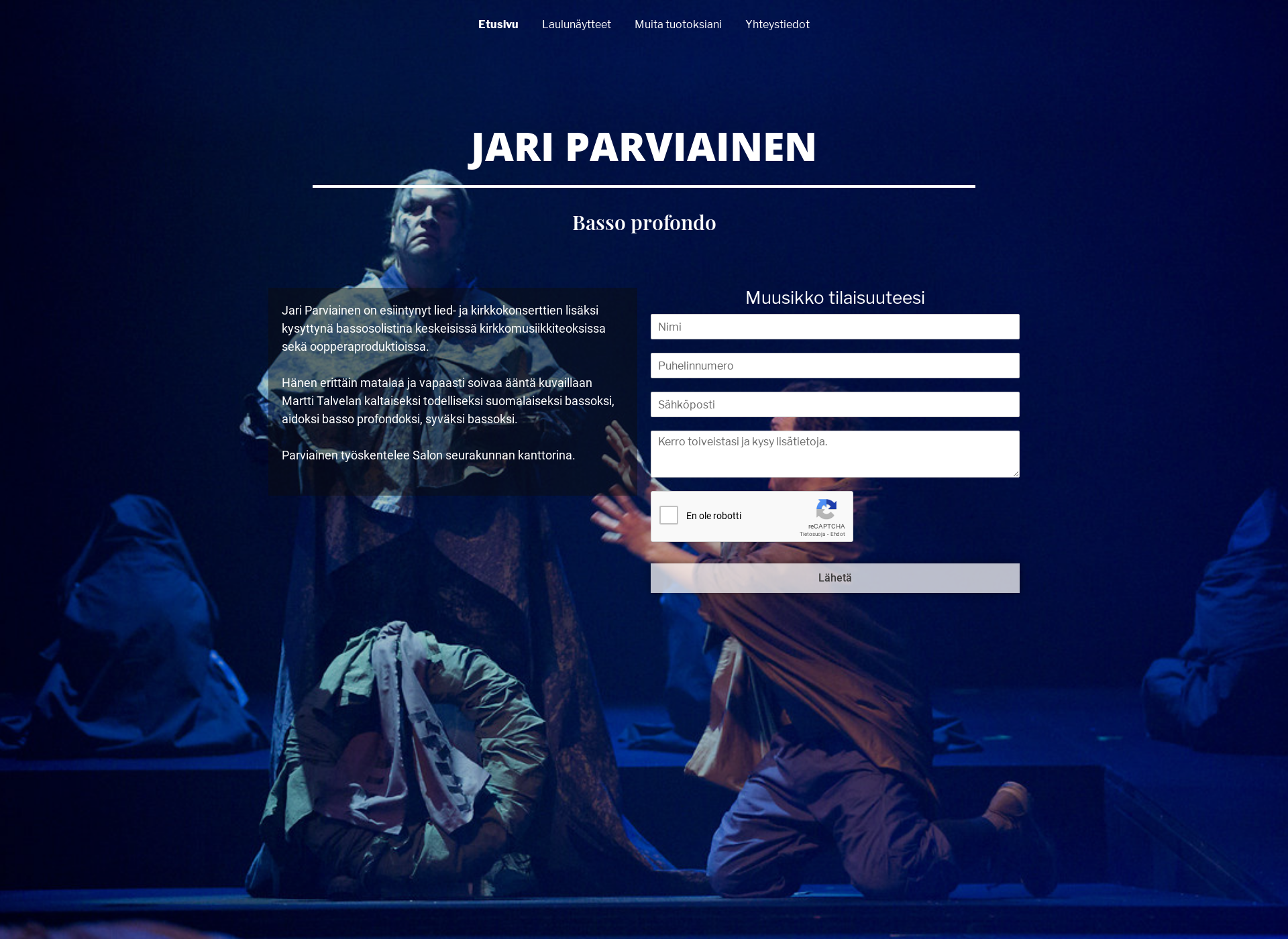 Screenshot for jariparviainen.fi