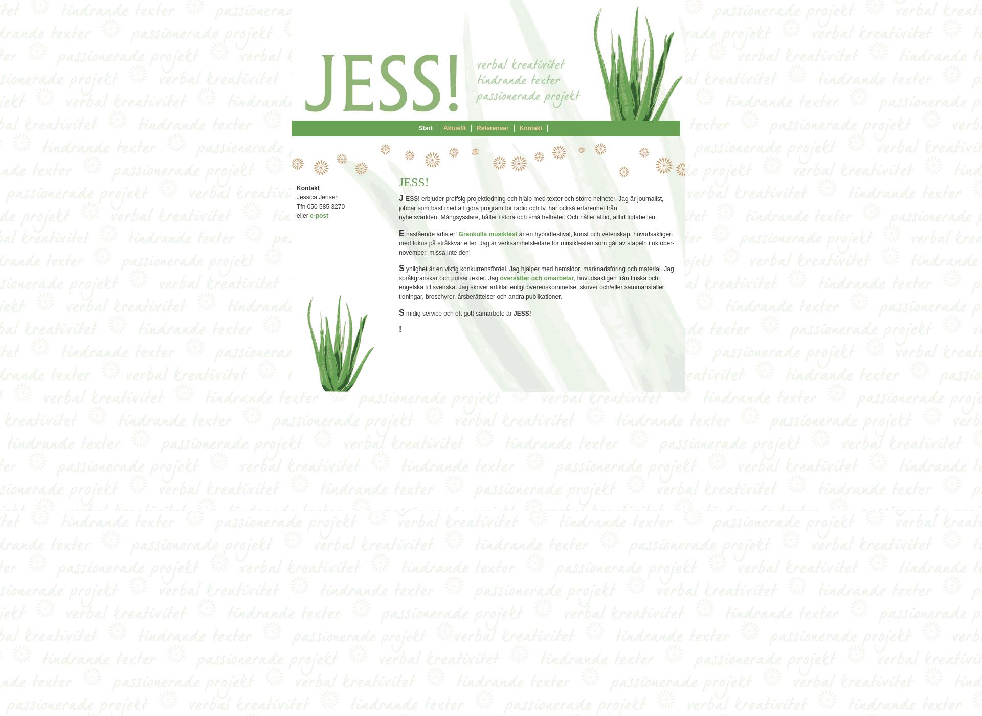 Screenshot for jessicajensen.fi