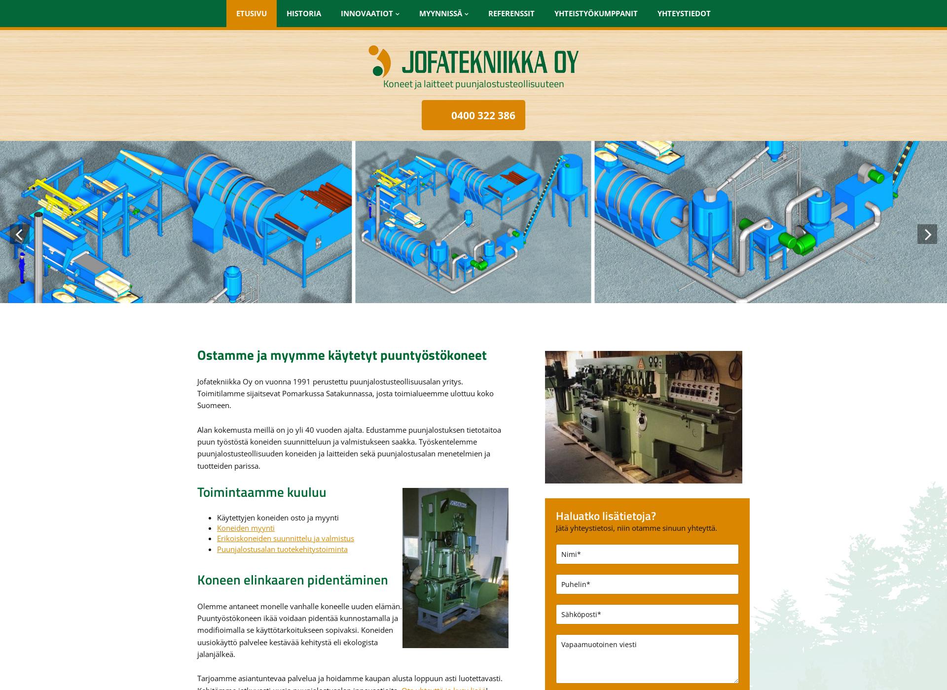 Screenshot for jofatekniikka.fi