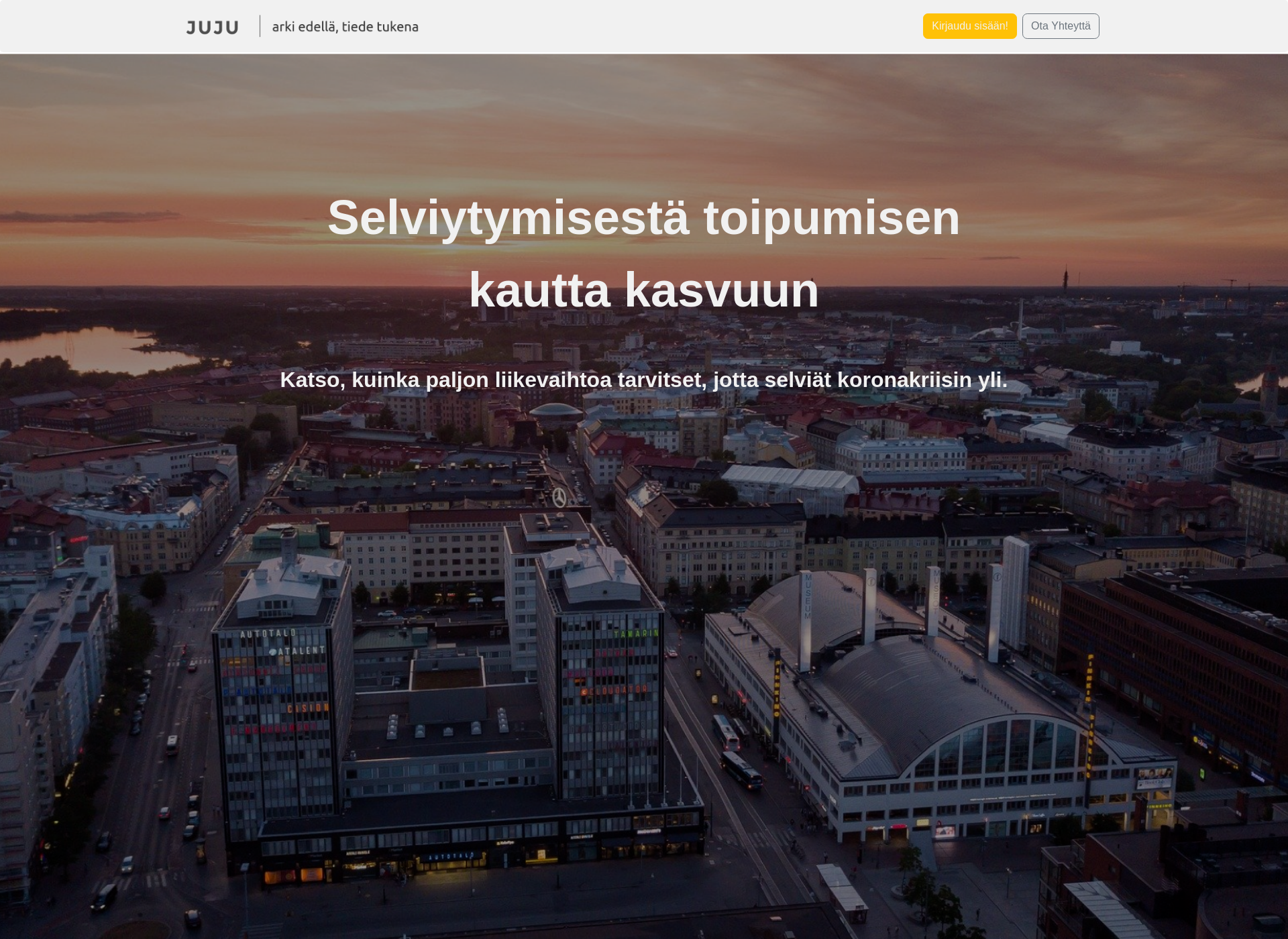 Screenshot for jujuapp.fi
