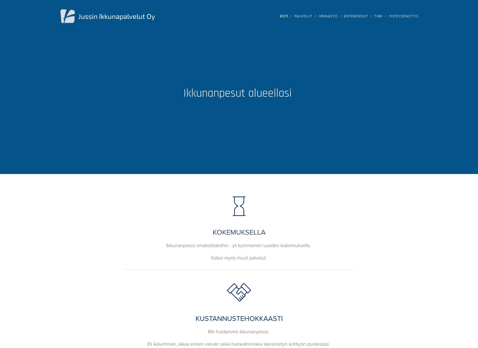 Screenshot for jussinikkunapalvelut.fi