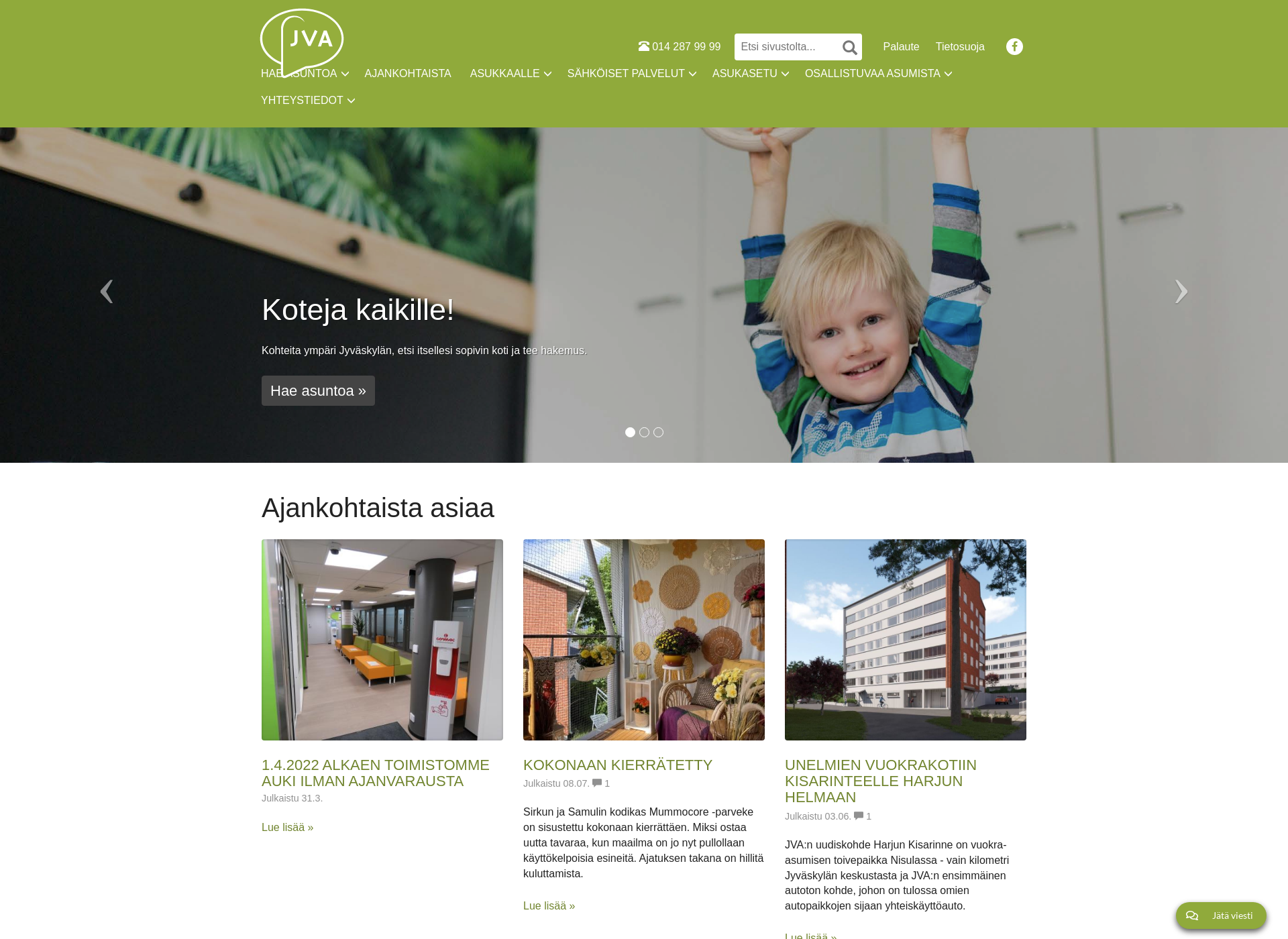 Screenshot for jva.fi