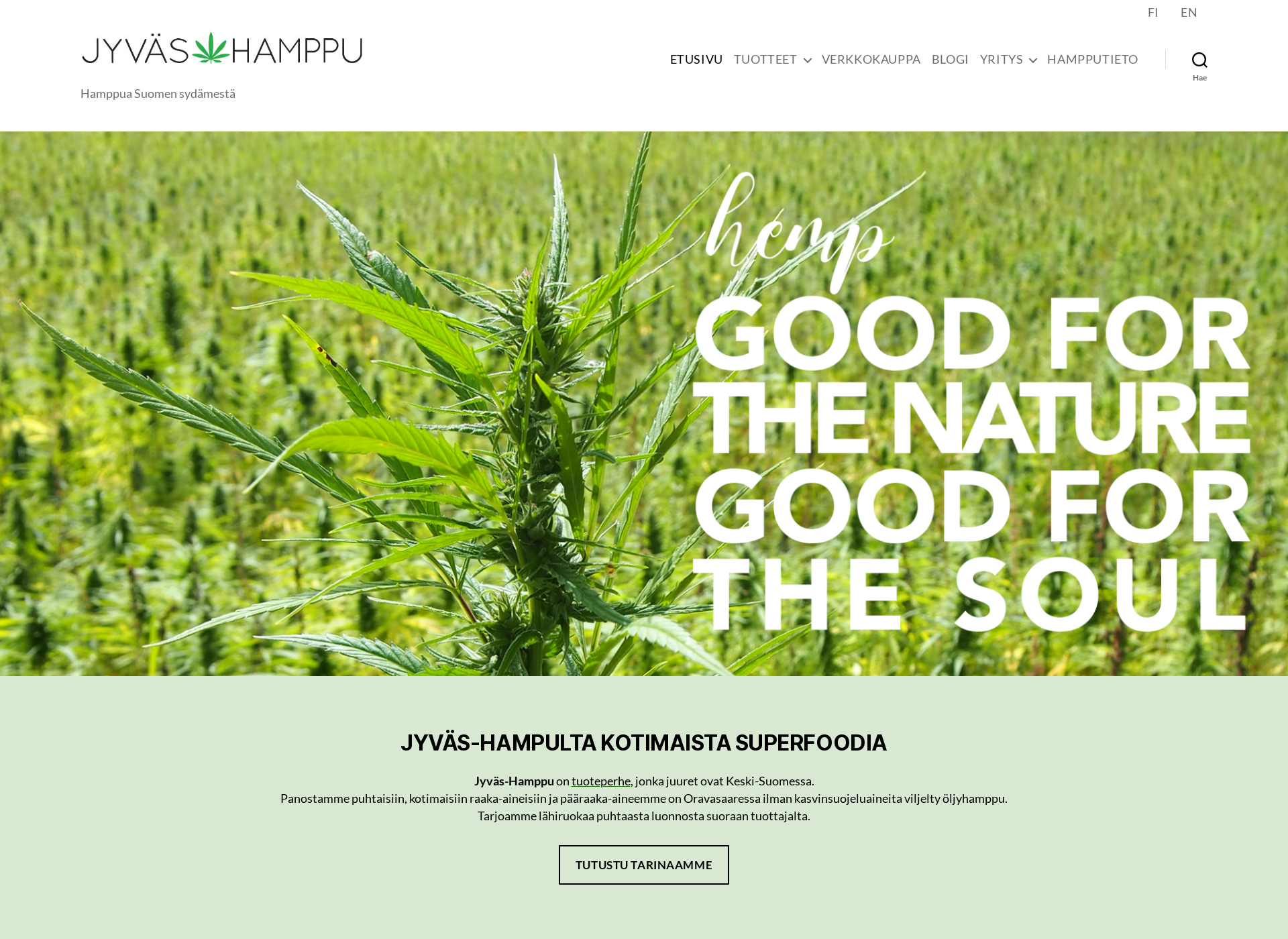 Screenshot for jyvashamppu.fi