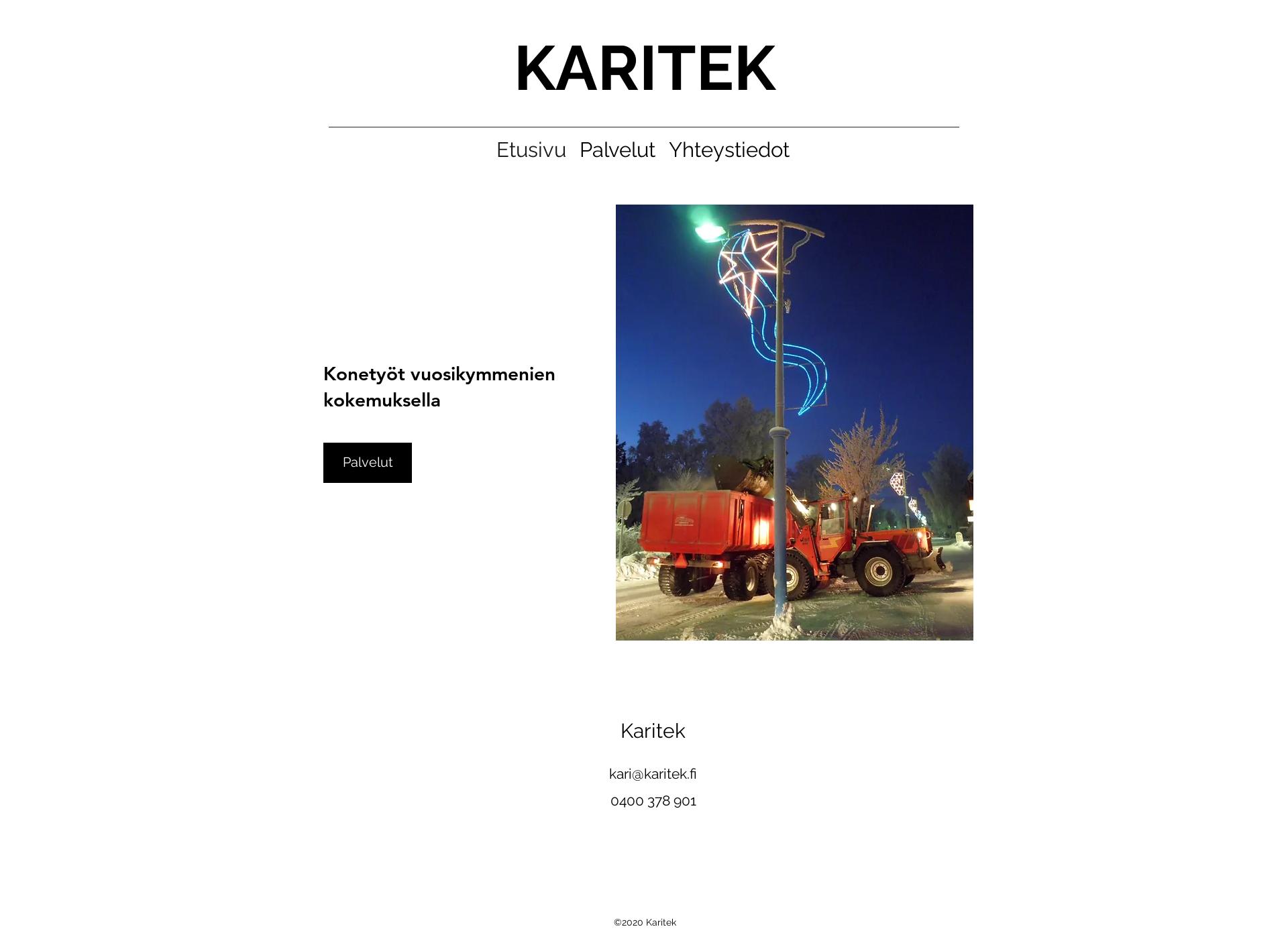 Screenshot for karitek.fi