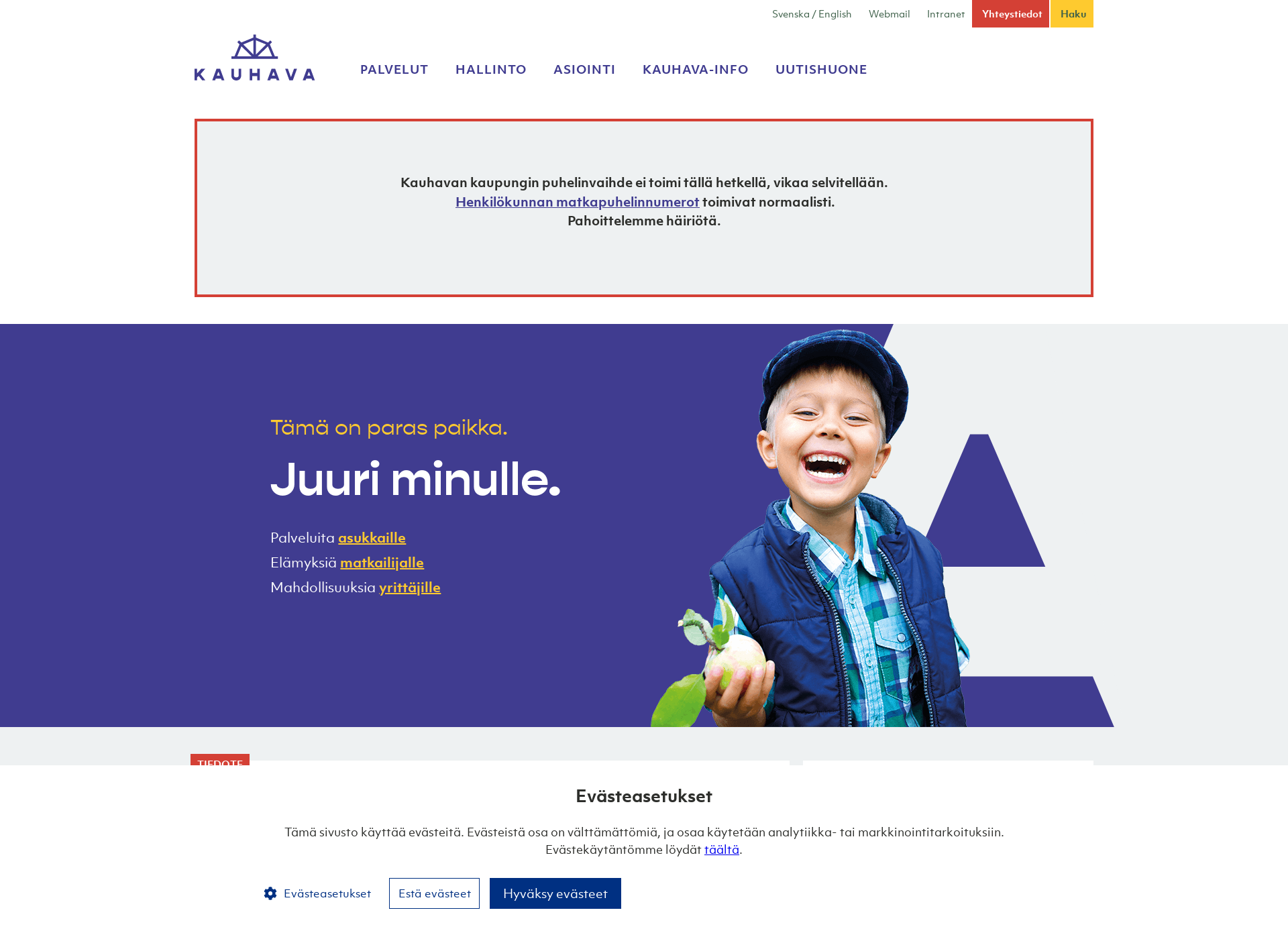 Screenshot for kauhava.fi