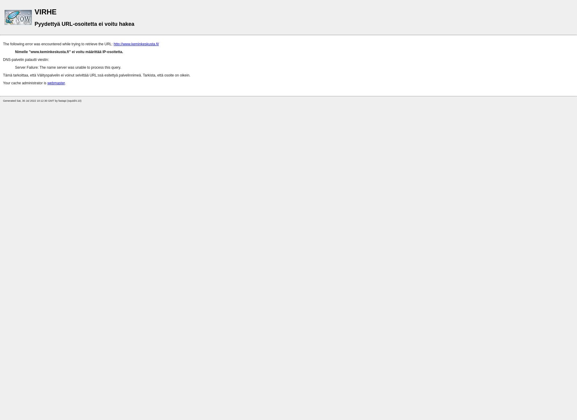 Screenshot for keminkeskusta.fi
