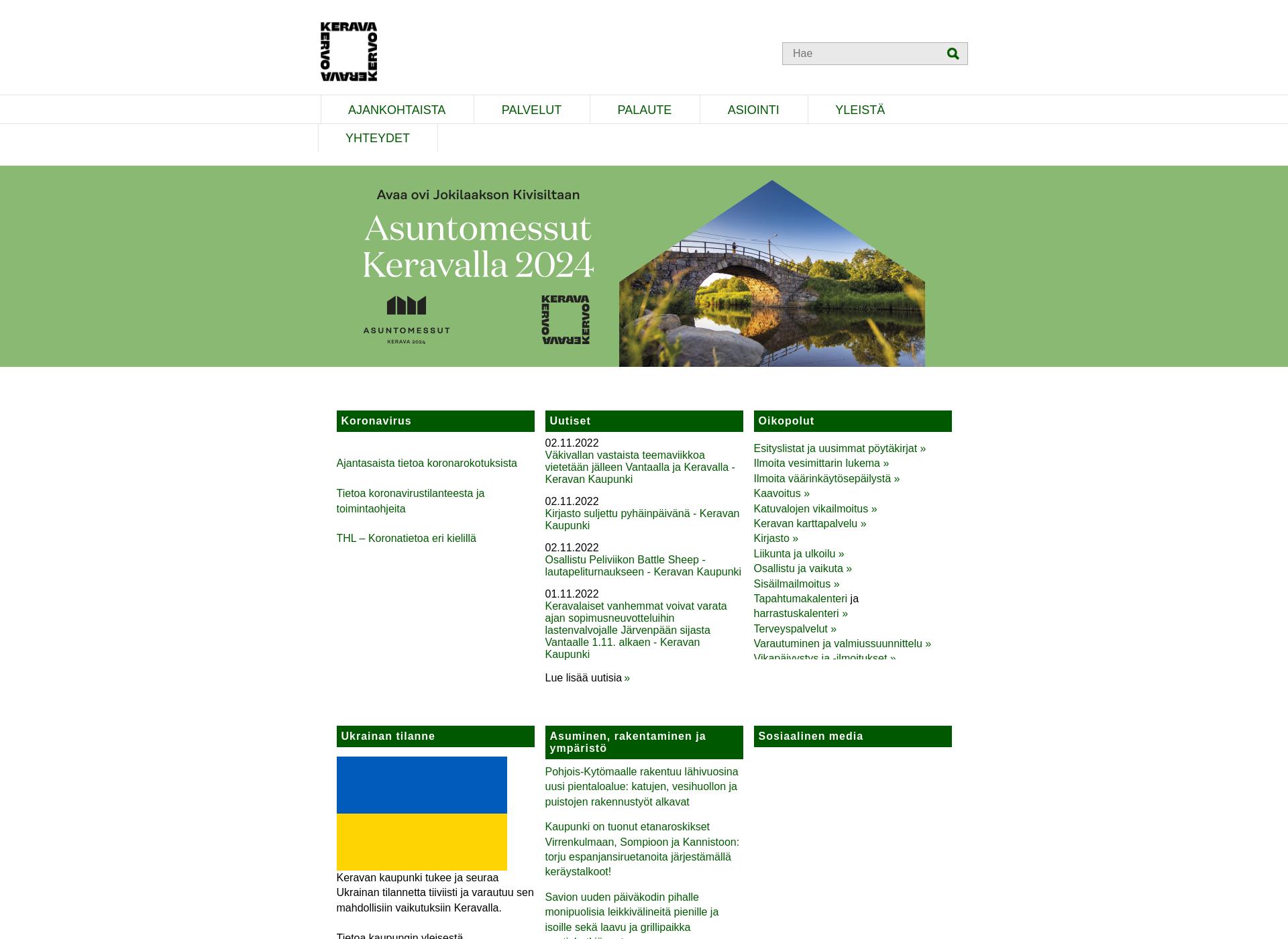 Screenshot for kerava.fi