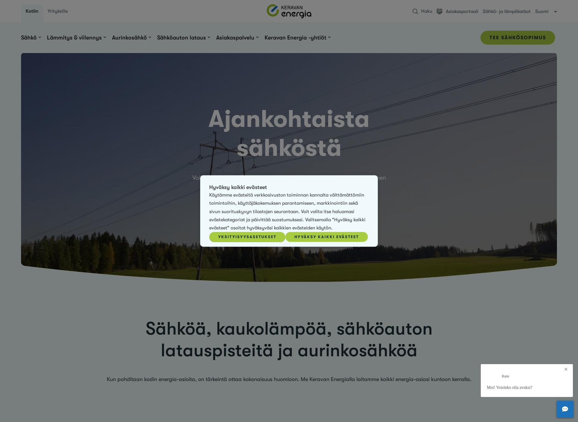 Screenshot for keravanenergia.fi