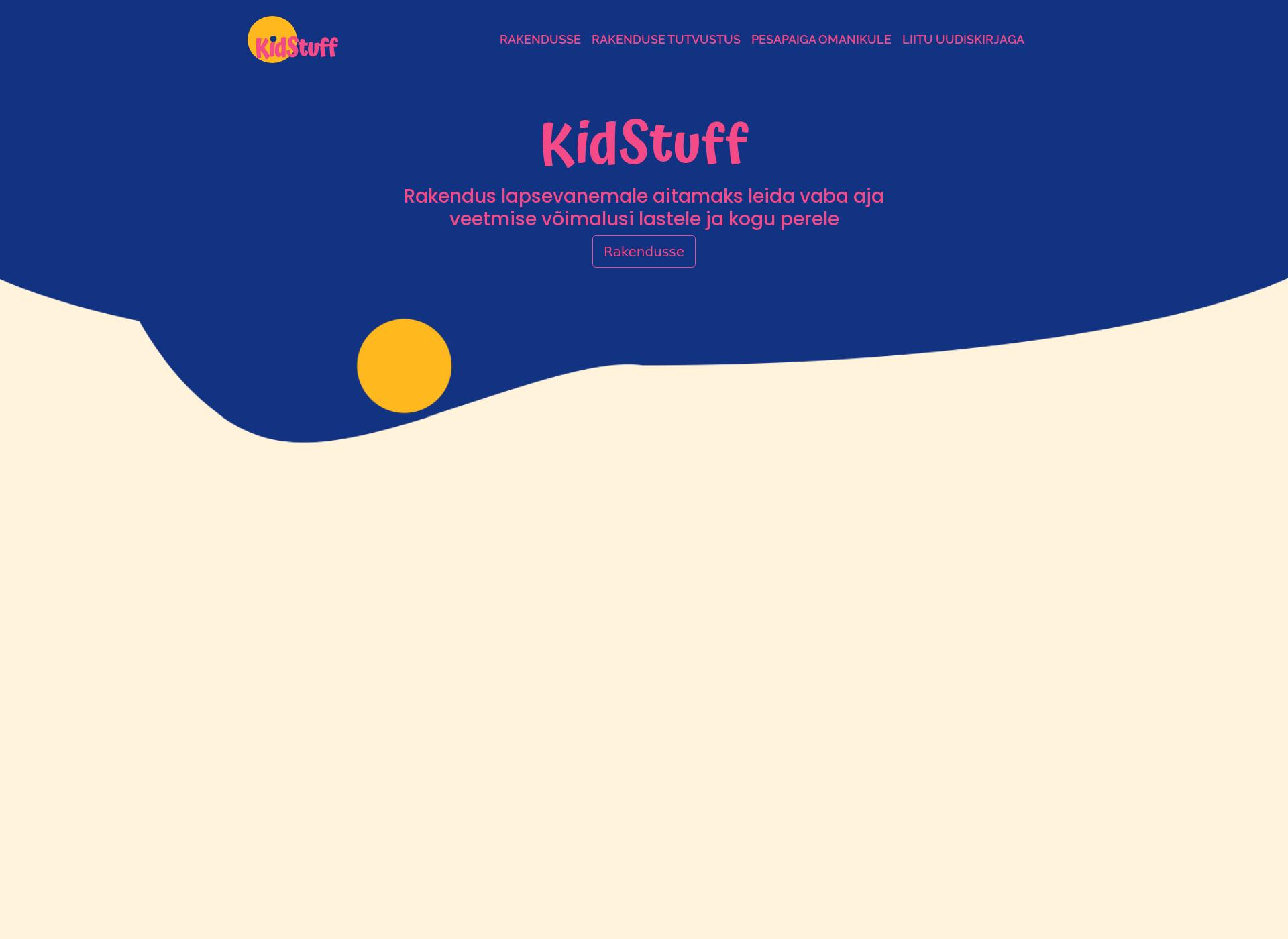 Screenshot for kidstuff.fi