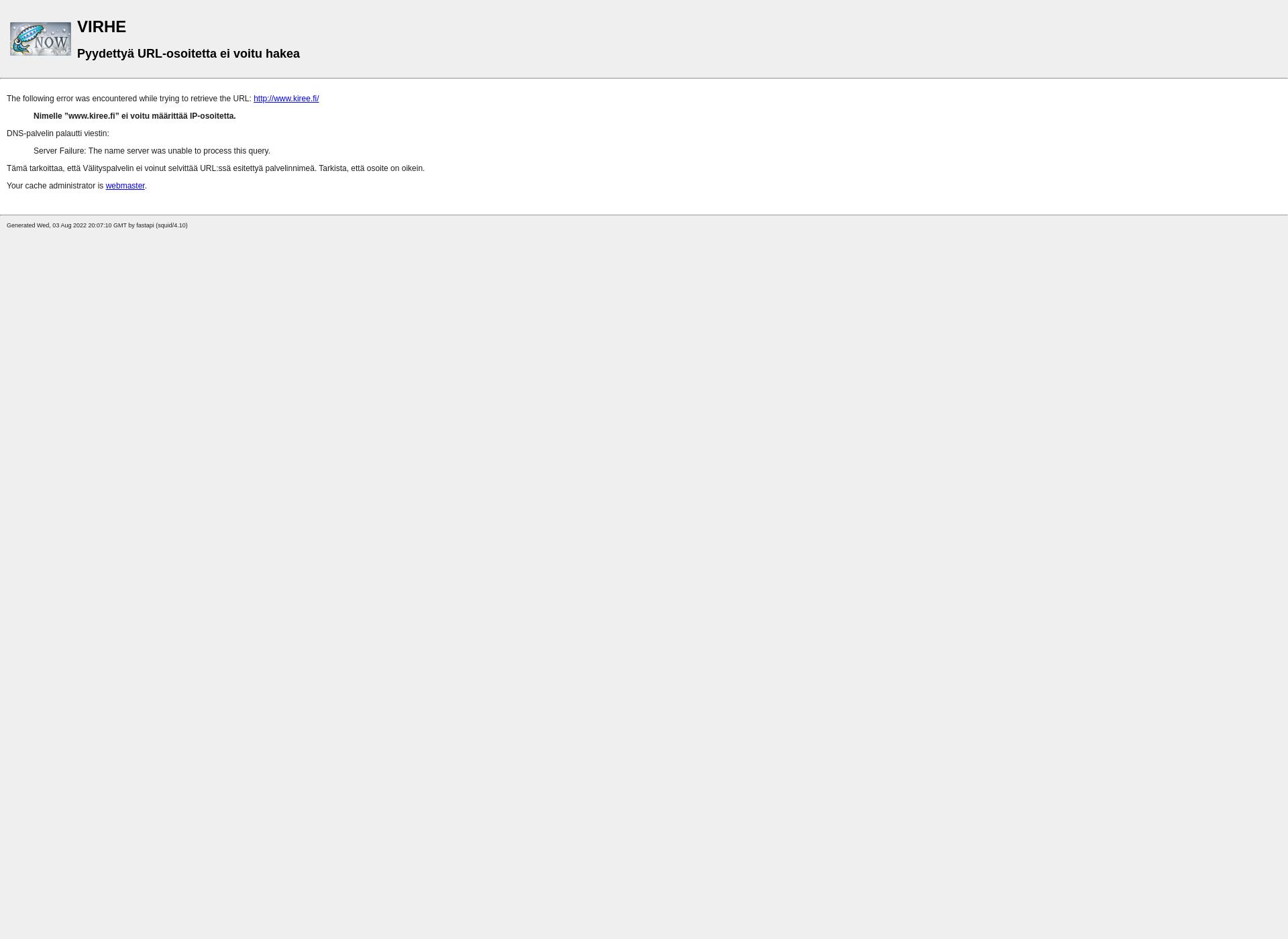Screenshot for kiree.fi