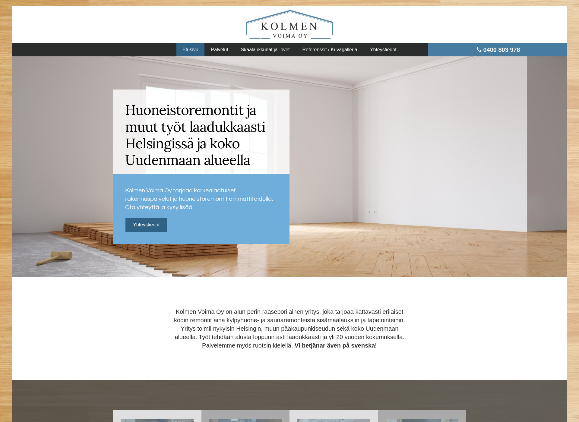 Screenshot for kolmenvoima.fi