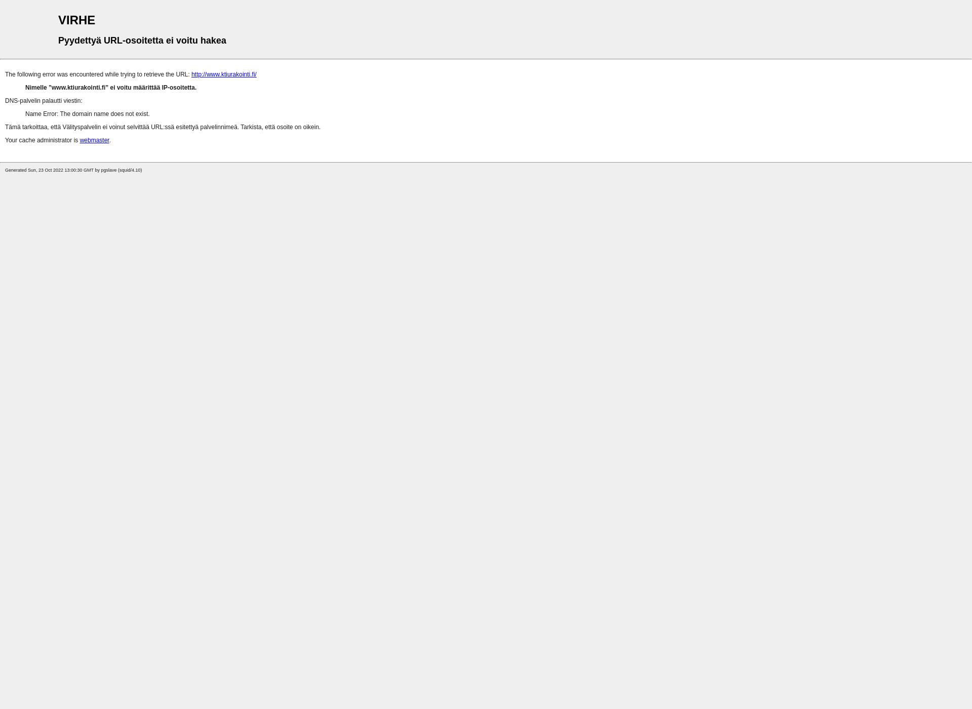 Screenshot for ktiurakointi.fi